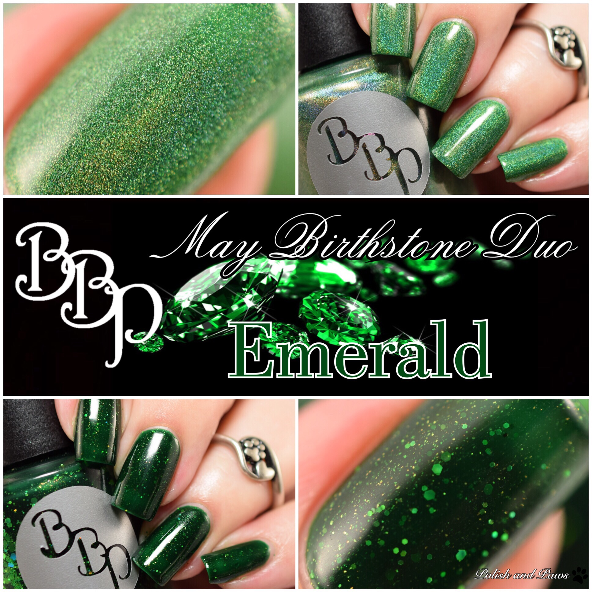 Bad Bitch Polish Emerald May Birthstone Duo