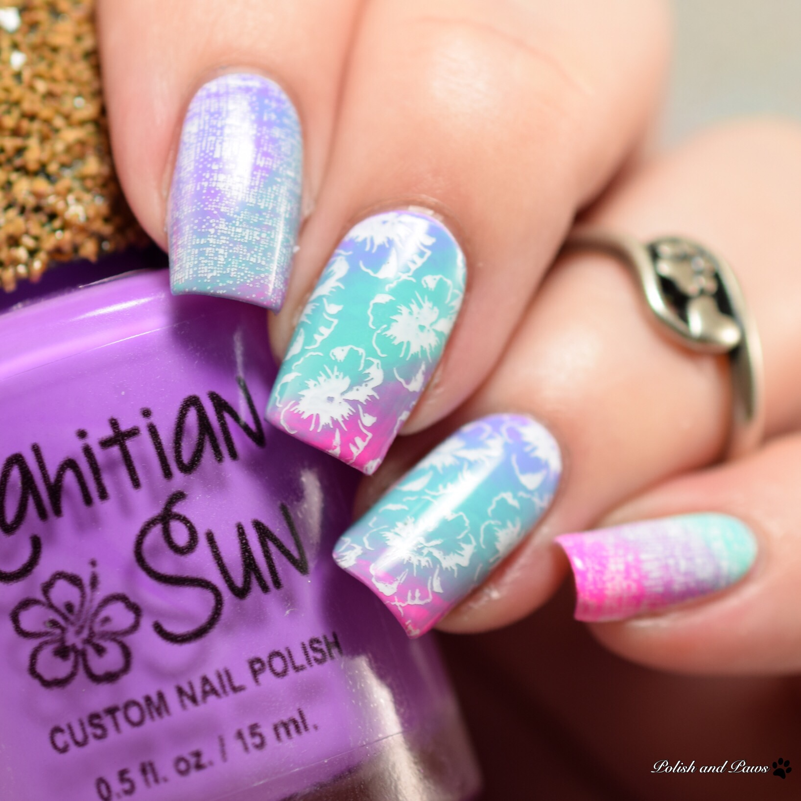Tahitian Sun Bright Tone Spring Collection Nail Art Polish And Paws