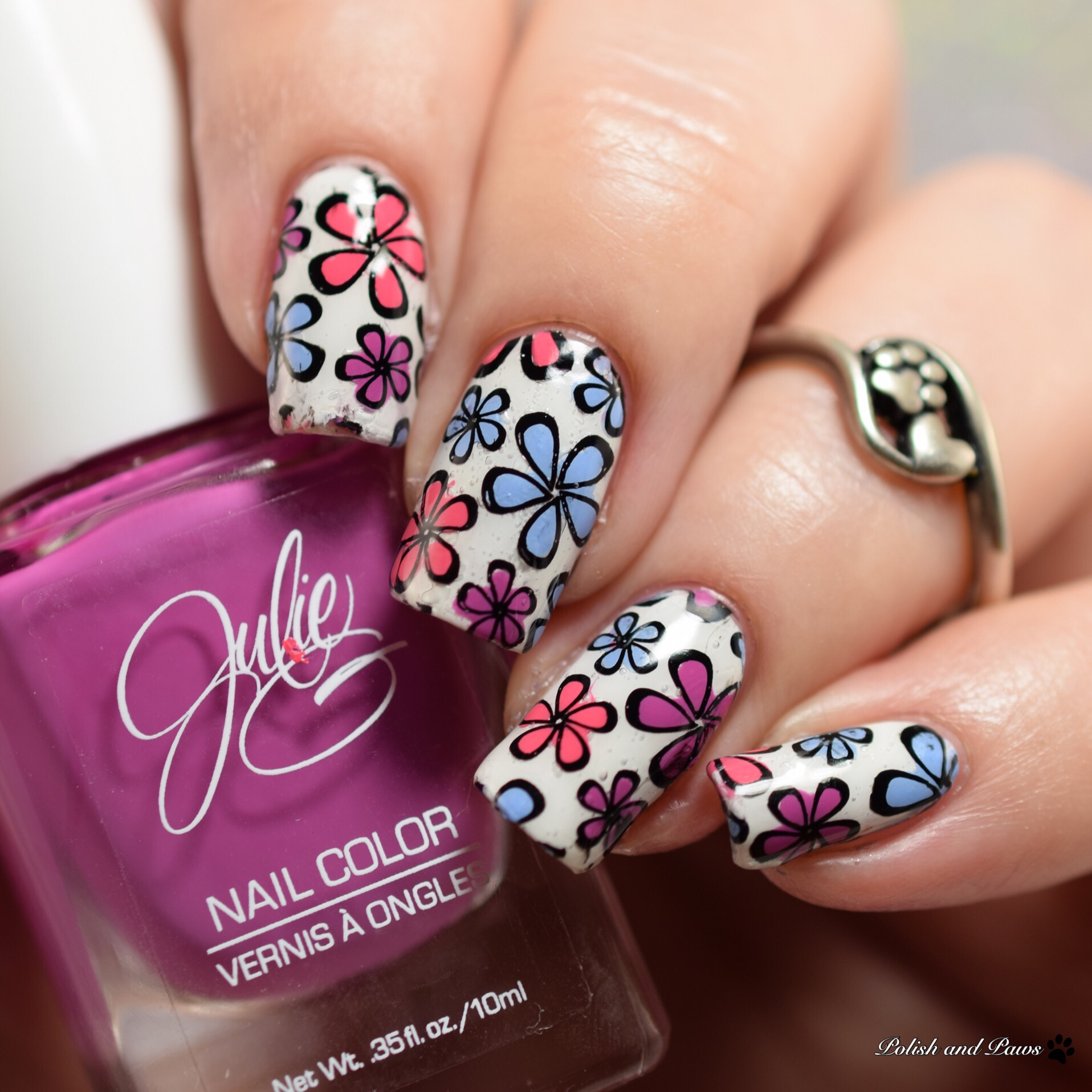 Julie G Spring Trio Two nail art