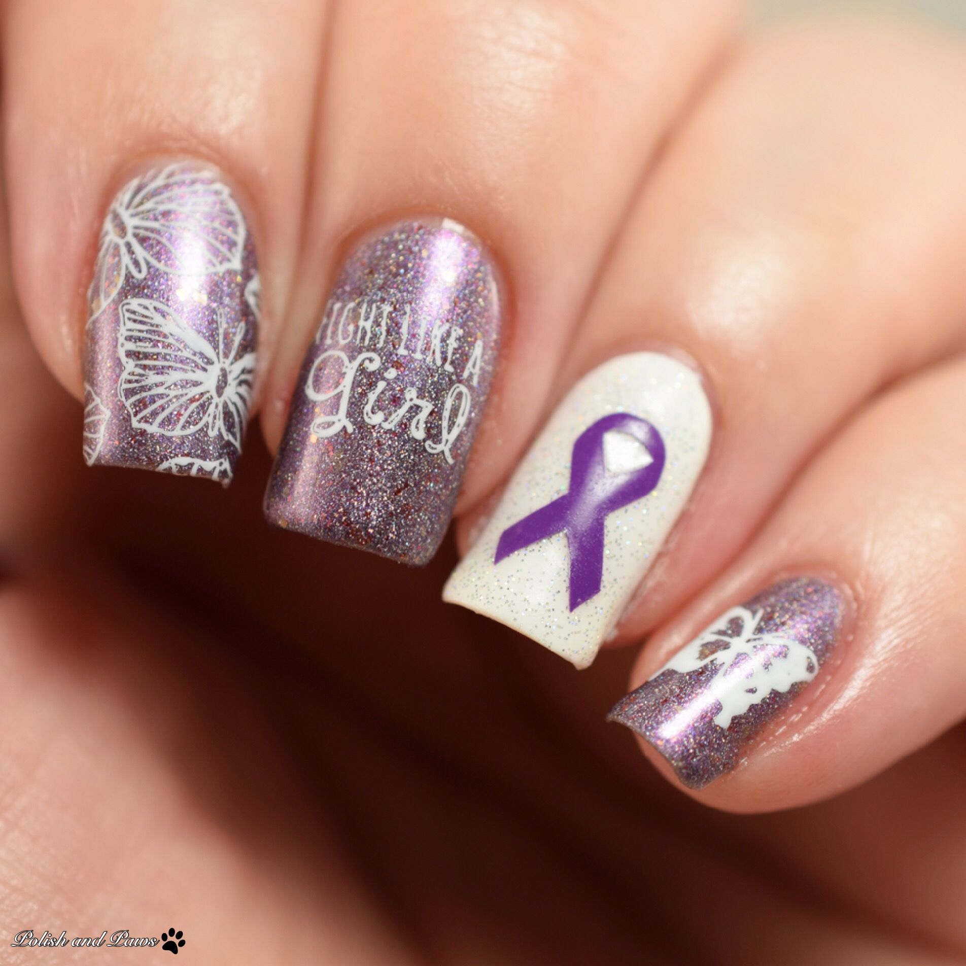 Limited Edition Ellagee Fibro Warrior with Ribbit Stickits Purple Ribbon Vinyls
