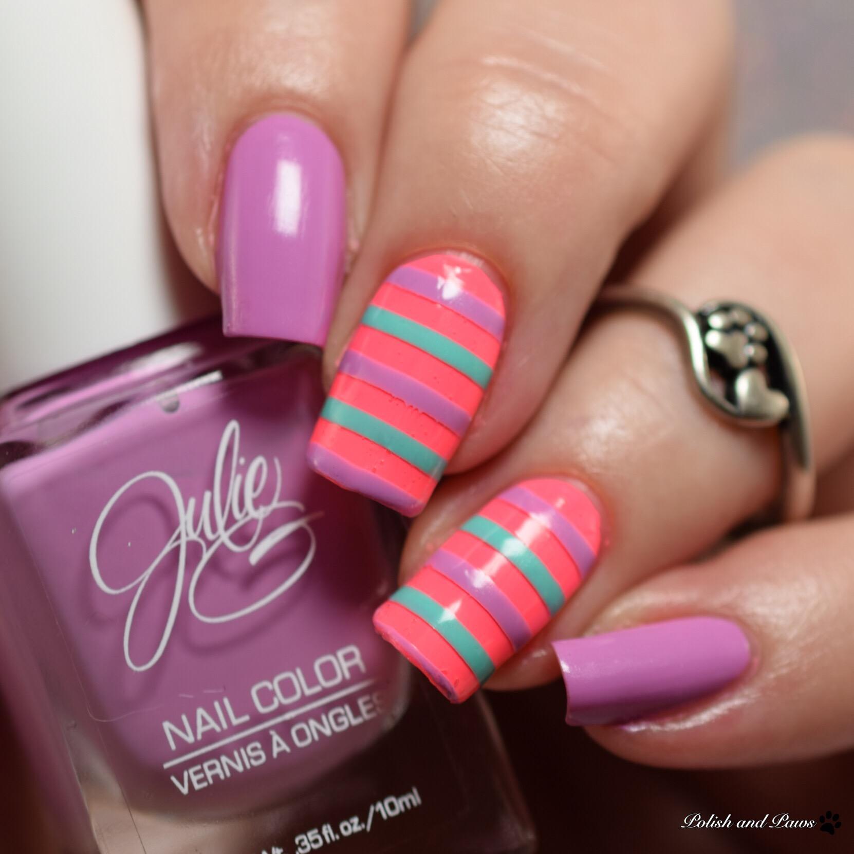 Julie G Spring Trio nail art