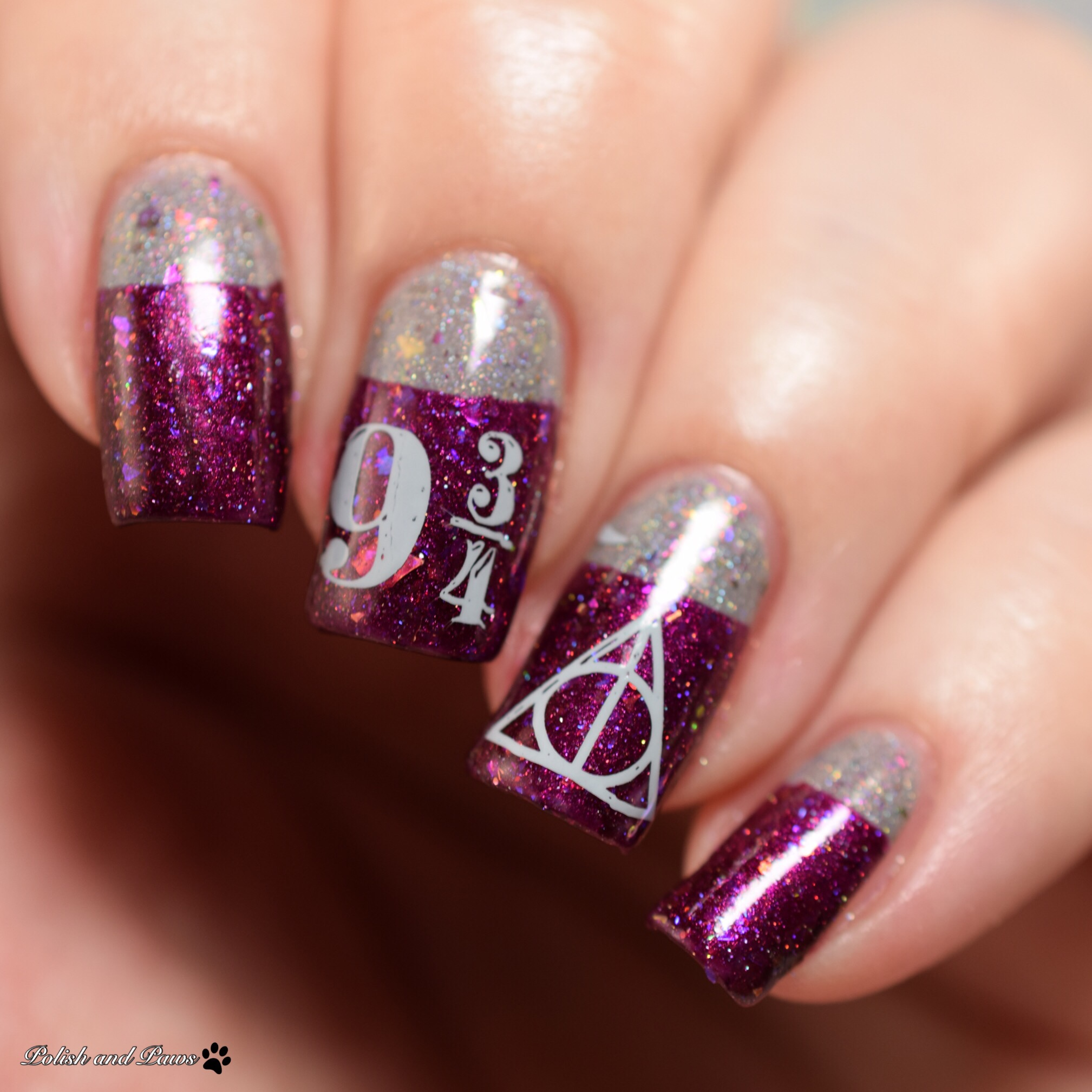 Glam Polish Iconic Duo Harry Potter Nail Art