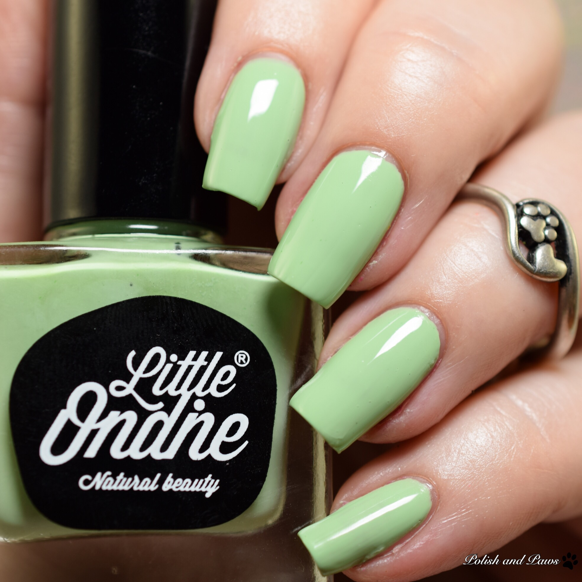 Clumpy Nail Polish: Little Ondine Water-Based Nail Polish