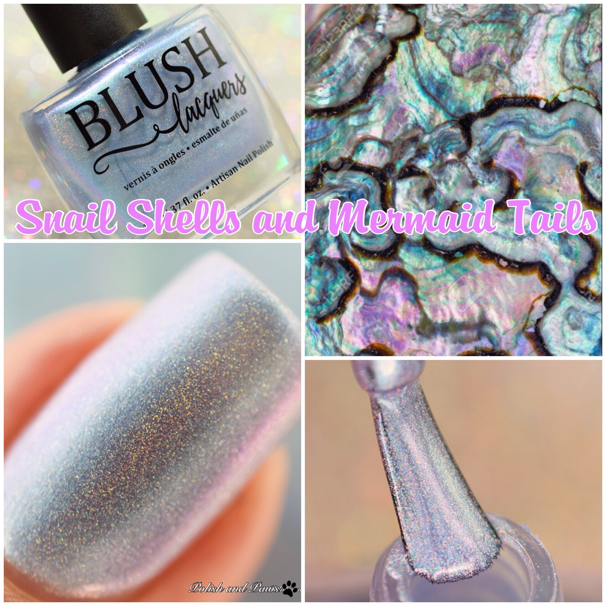Blush Lacquers Snail Shells and Mermaid Tails