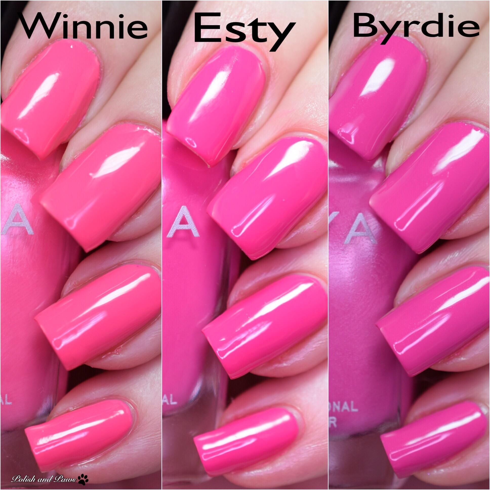 Zoya Winnie vs Esty vs Byrdie