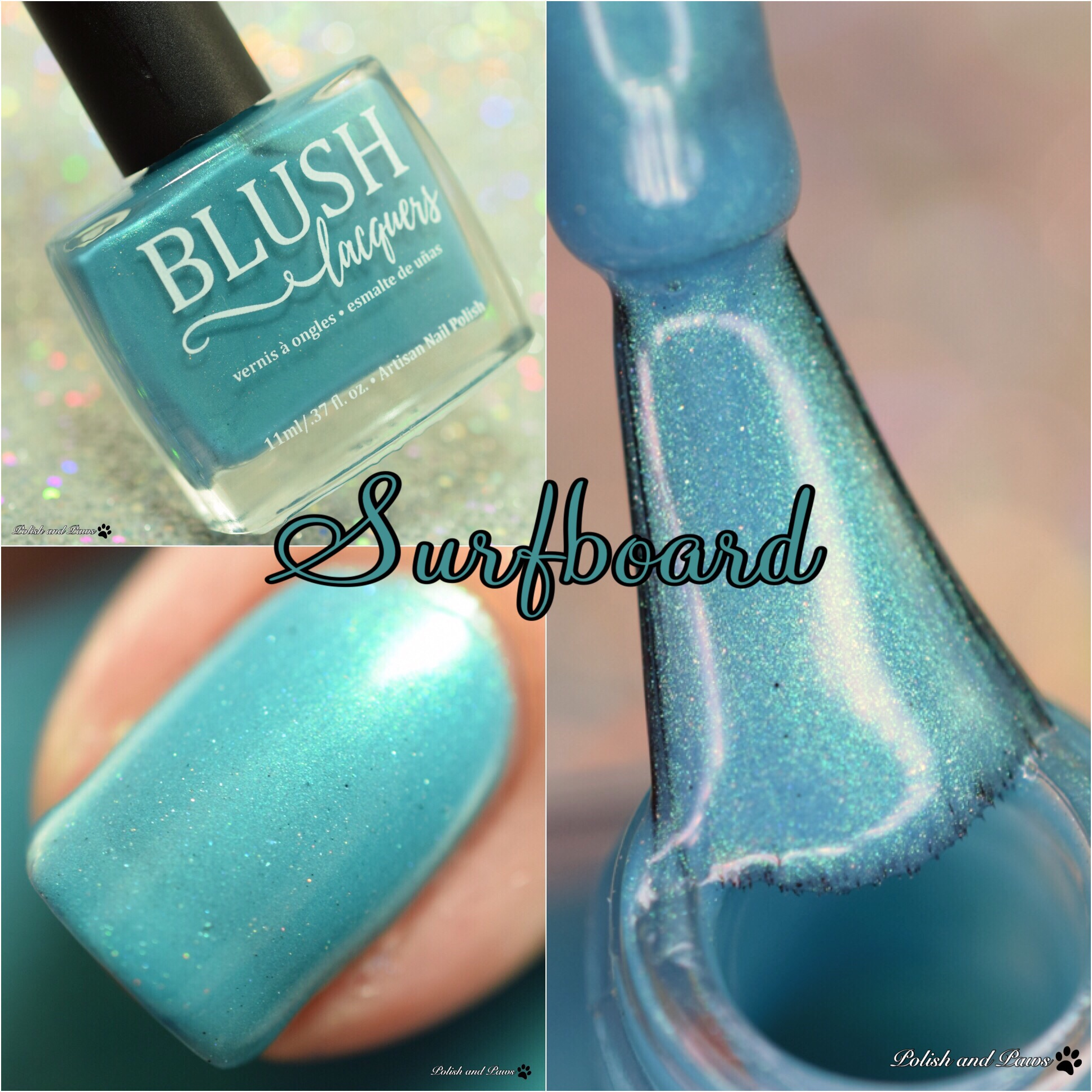 Blush Lacquers Surfboard