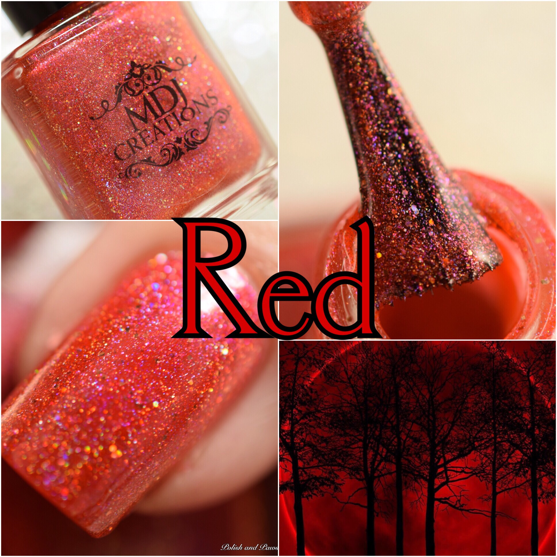 MDJ Creations Roy G. Biv Red