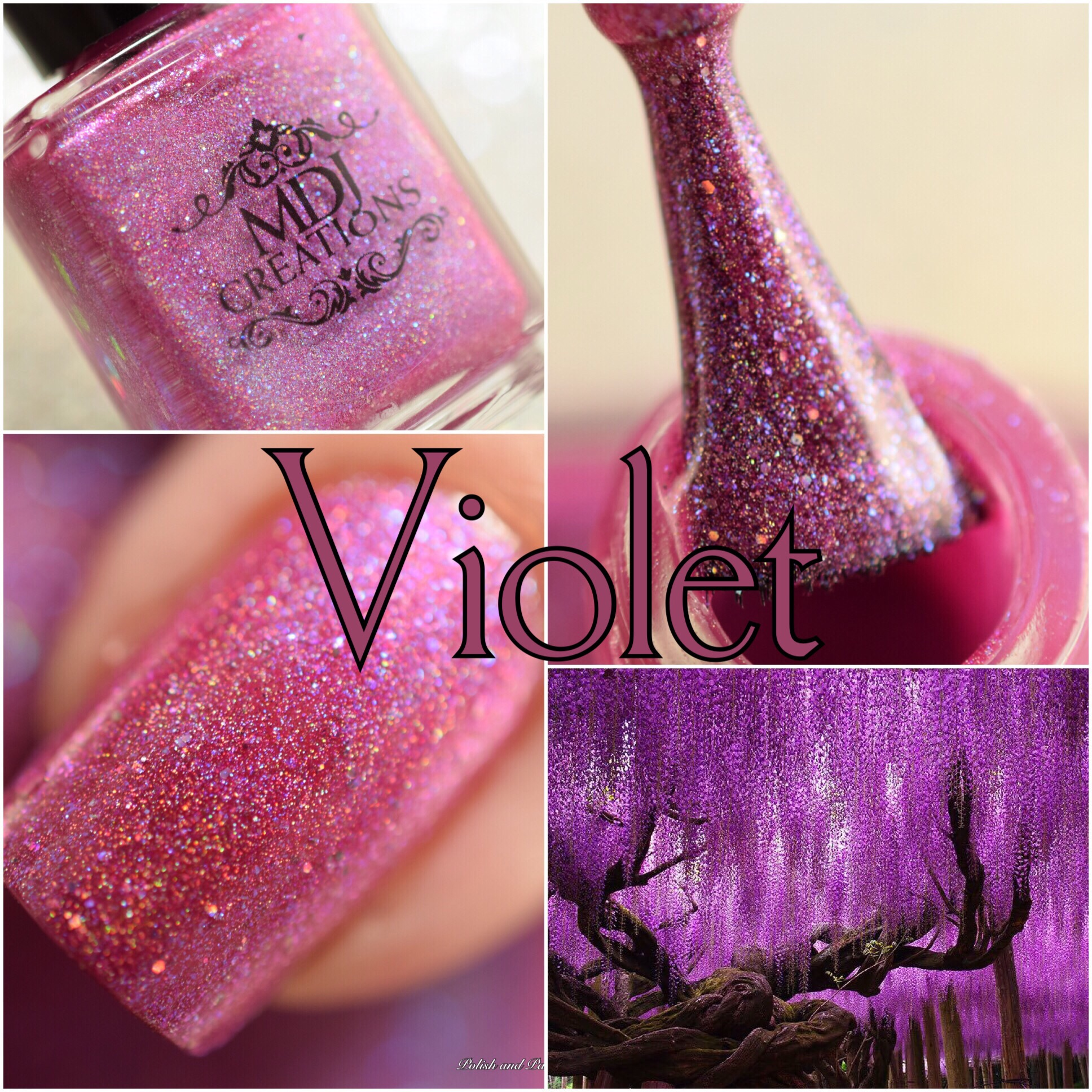 MDJ Creations Roy G. Biv Violet