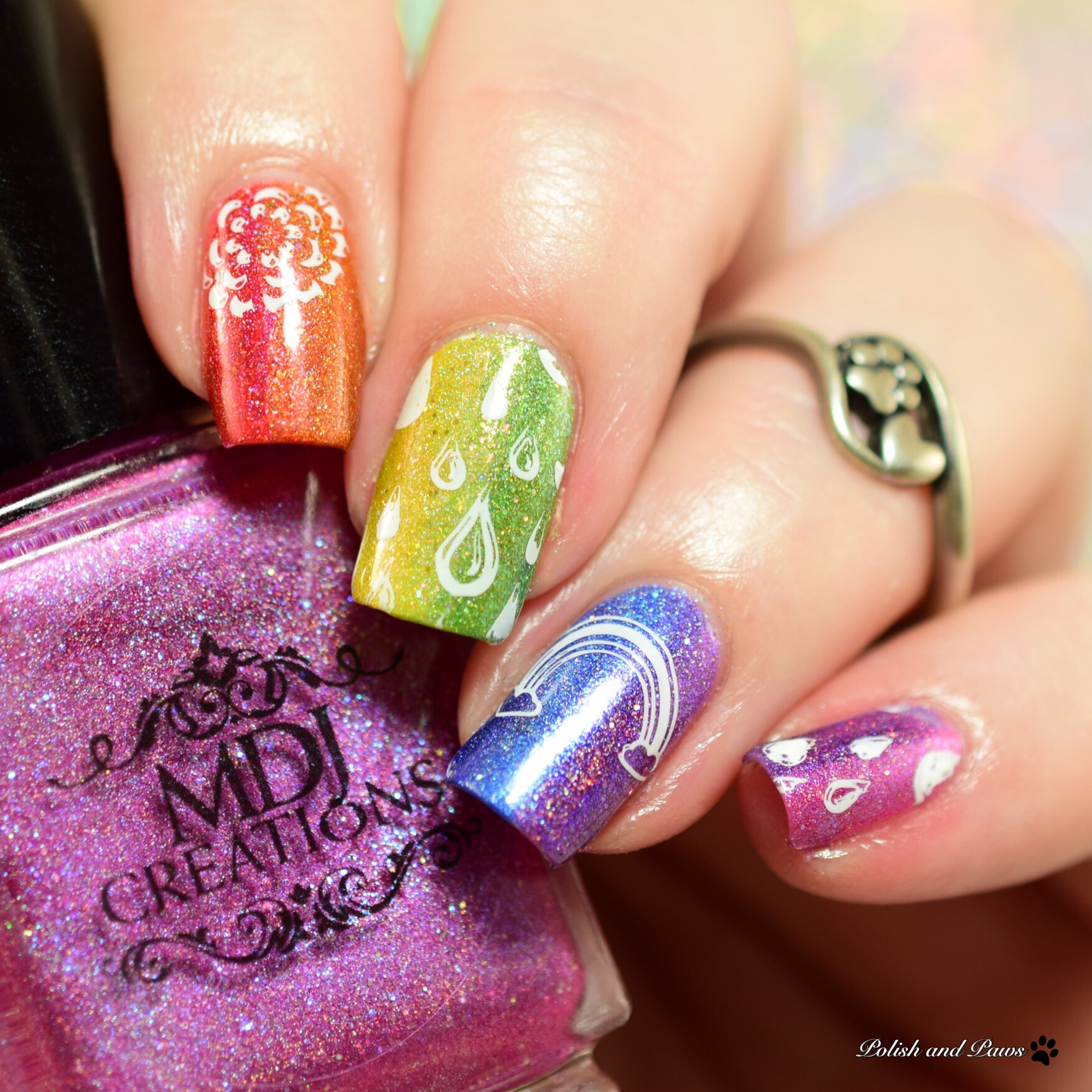MDJ Creations Roy G. Biv Nail Art