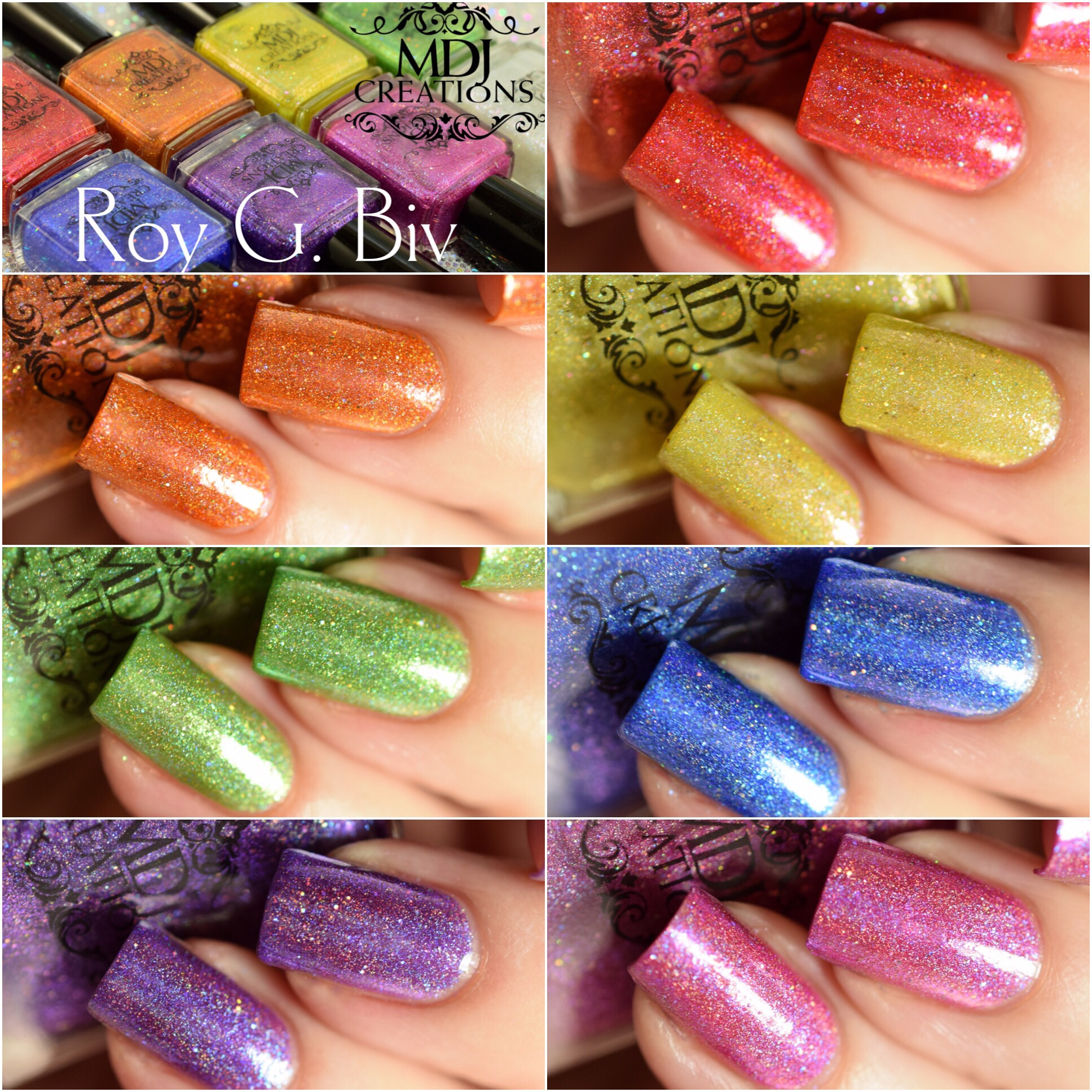 MDJ Creations Roy G. Biv Rainbow Collection
