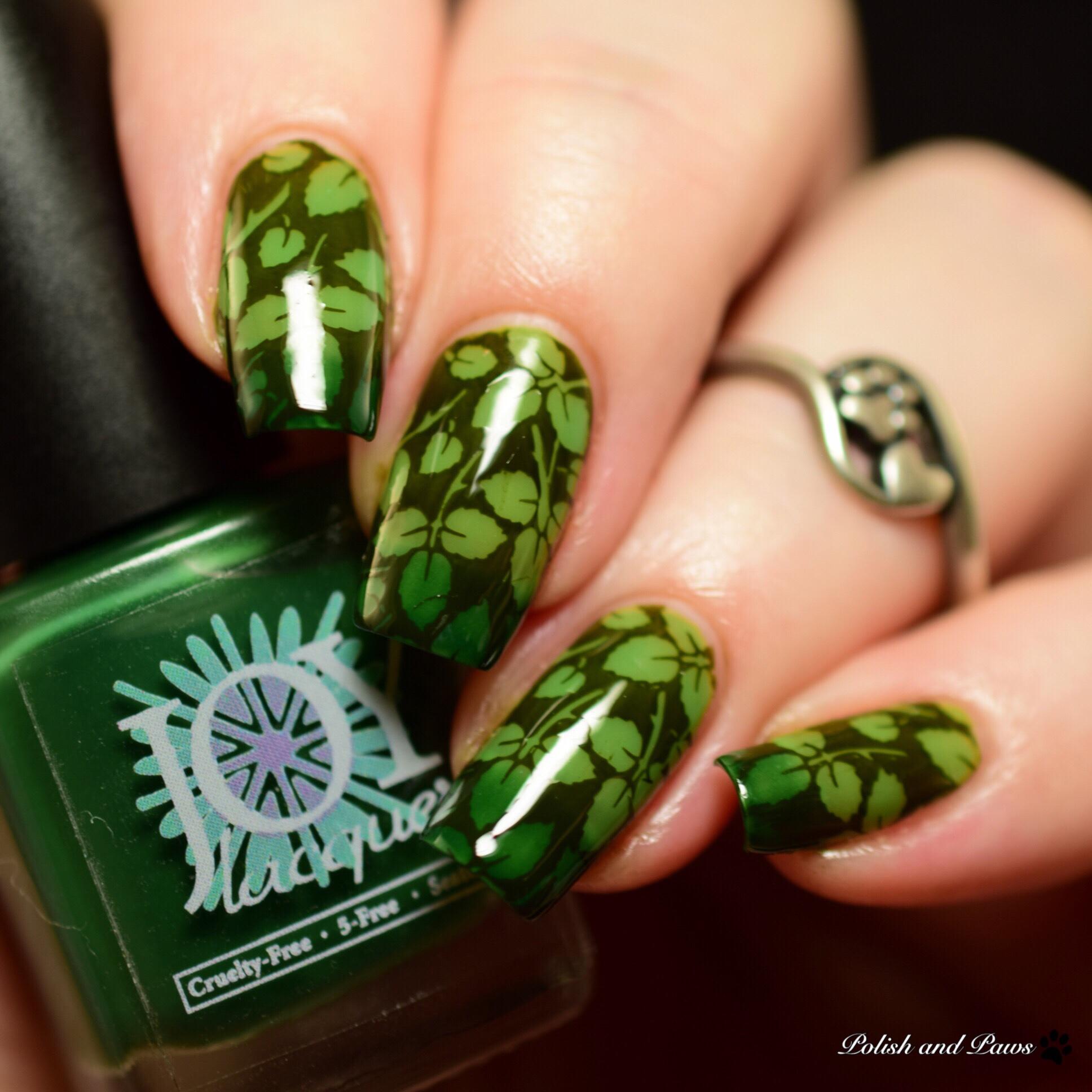 Joy Lacquer Mallory Stamping Nail Art