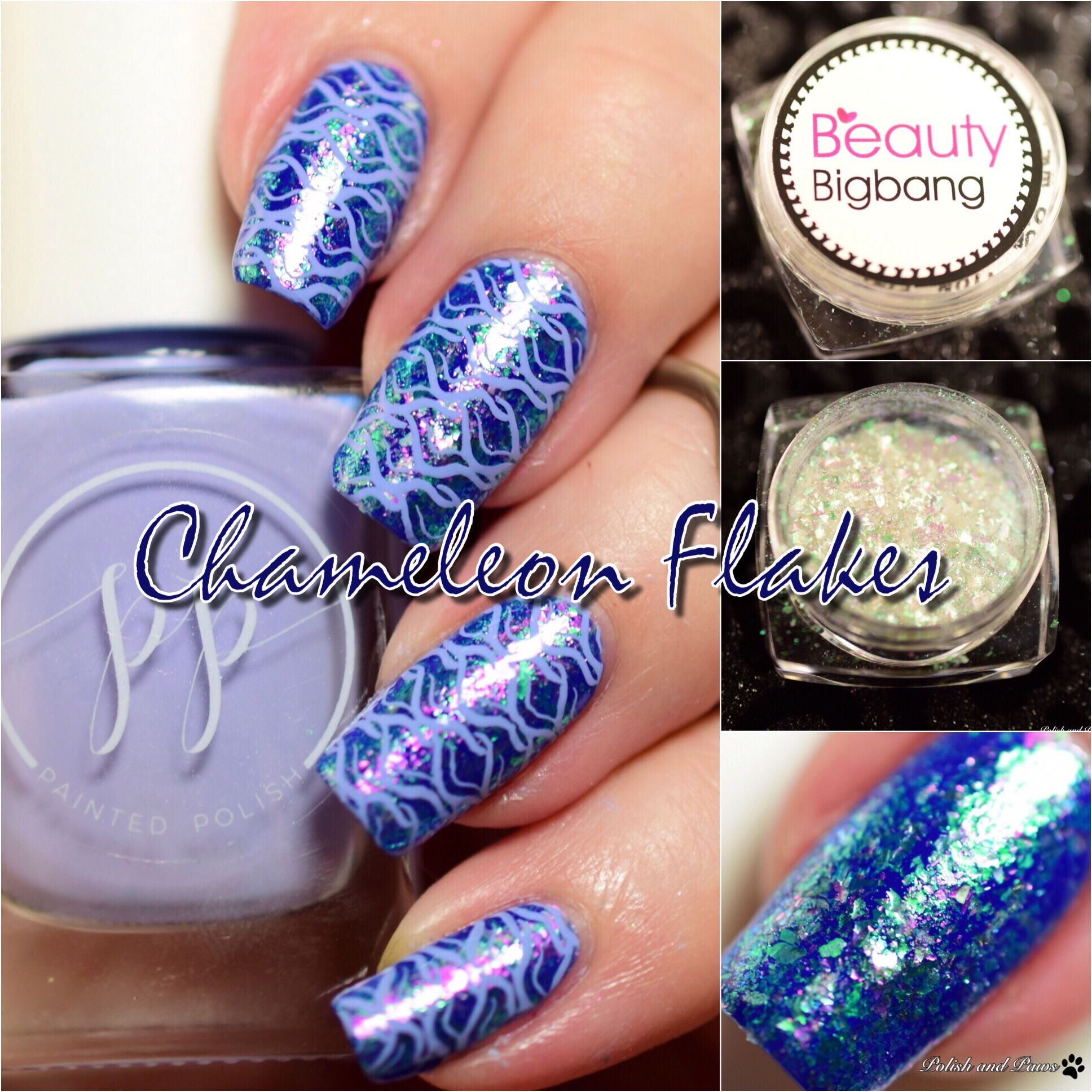 Beauty Big Bang Chameleon Flakes Nail Powder