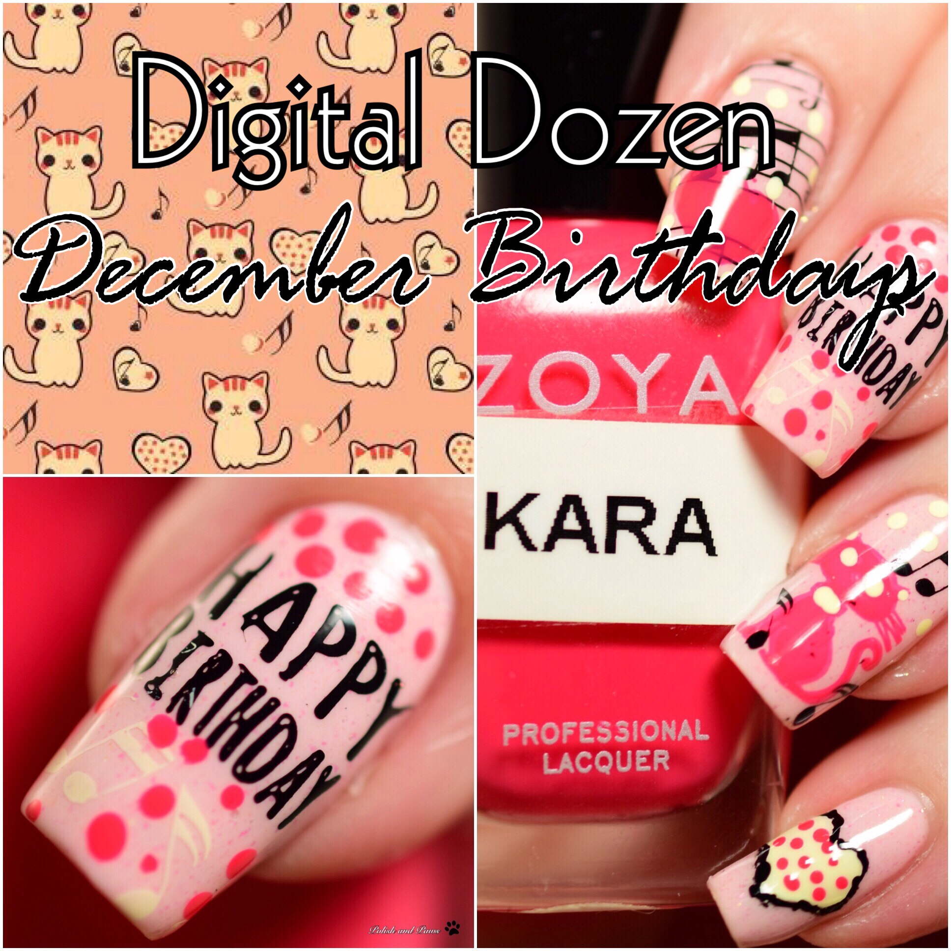 Digital Dozen December Birthdays