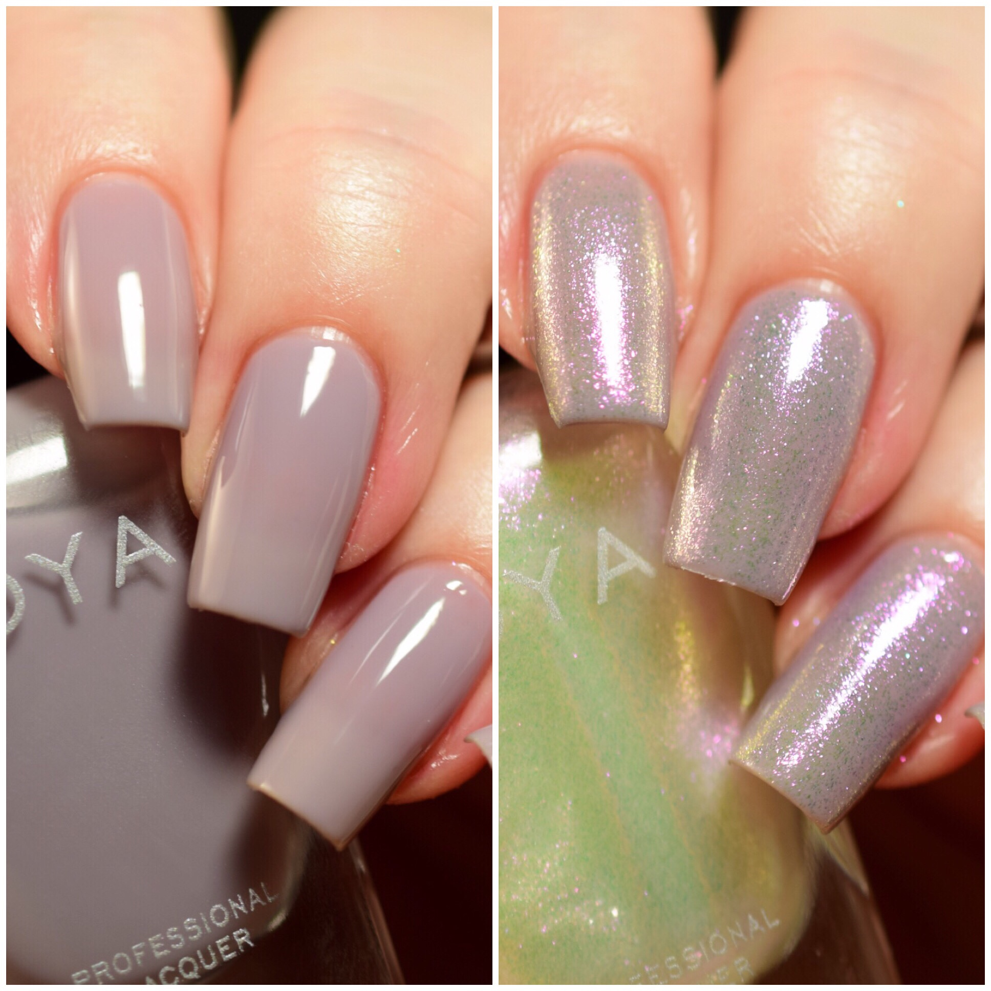 Zoya Leia layered over Zoya Vickie