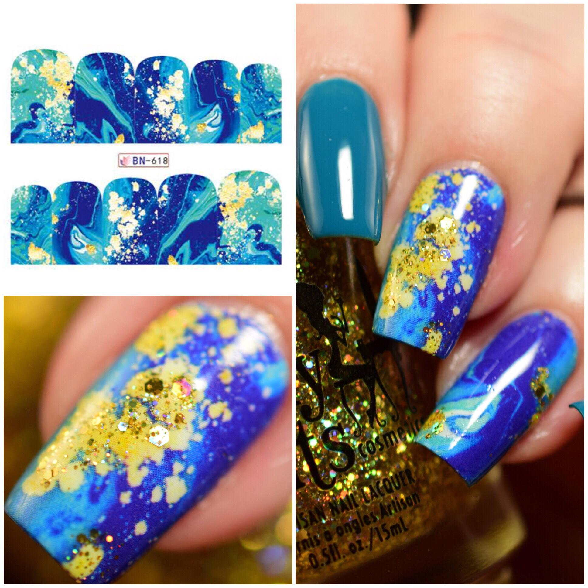 Beauty Bigbang Water Decals Nail Art
