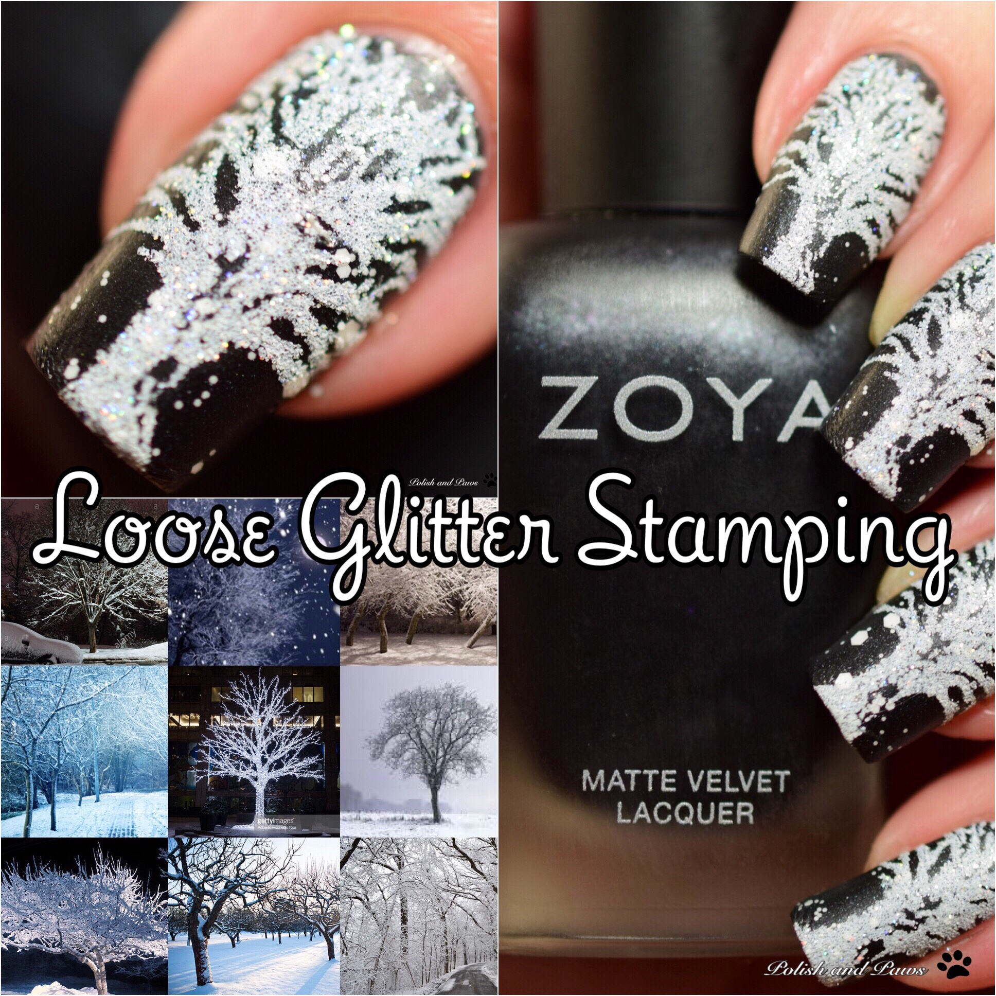 Digital Dozen ~ Loose Glitter Stamping