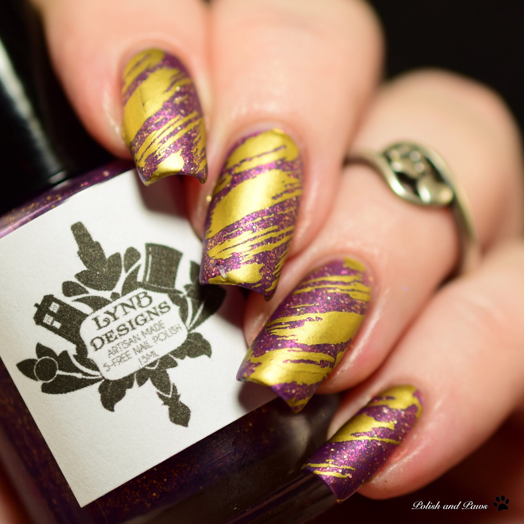 LynB Designs L'Amethyste Nail Art