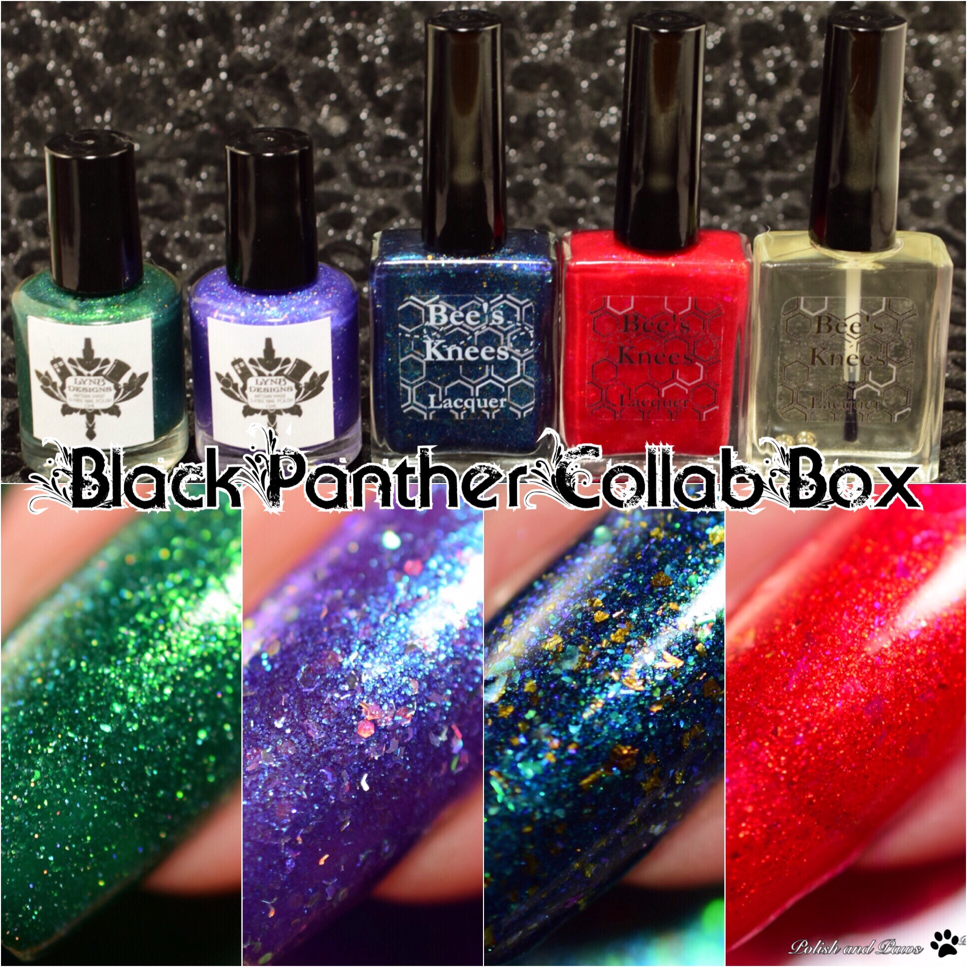 LynB Designs and Bee's Knees Lacquer Black Panther Collaboration