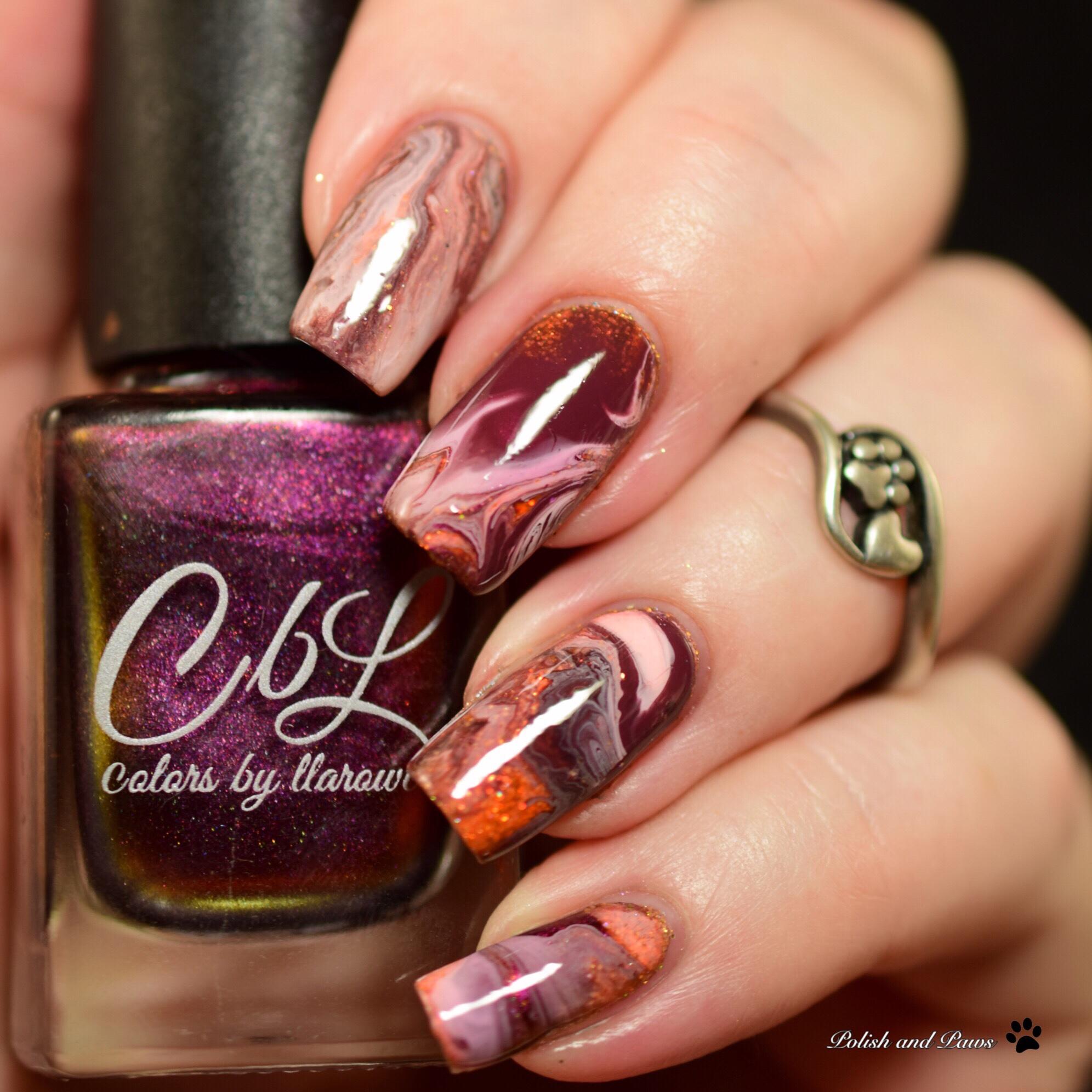 Nail Art: Drip Marble Nails | Polish and Paws