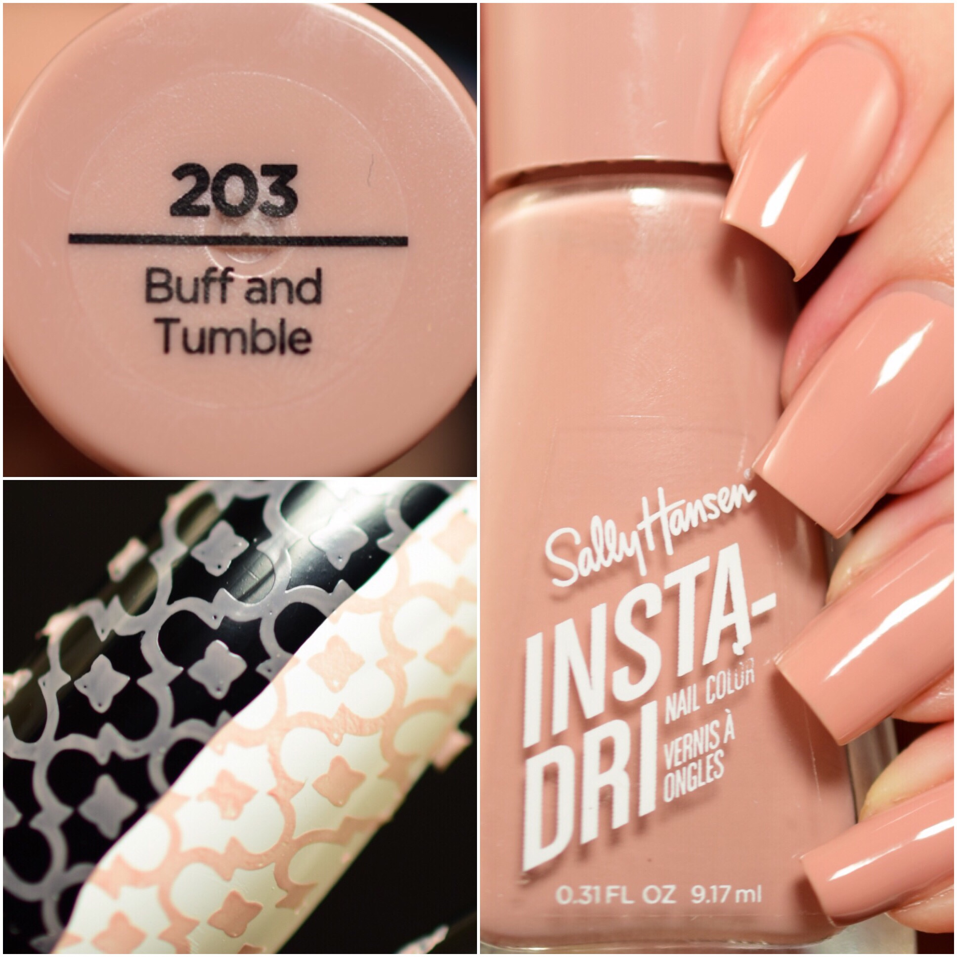 Sally Hansen Insta-Dri Buff and Tumble
