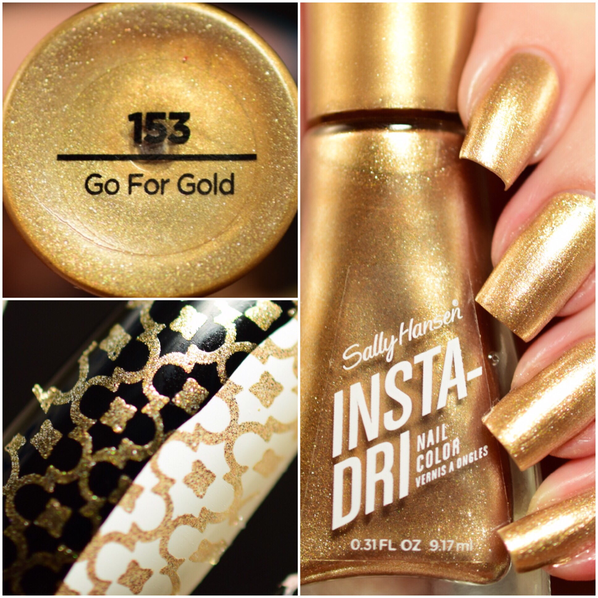 Sally Hansen Insta-Dri Go For Gold