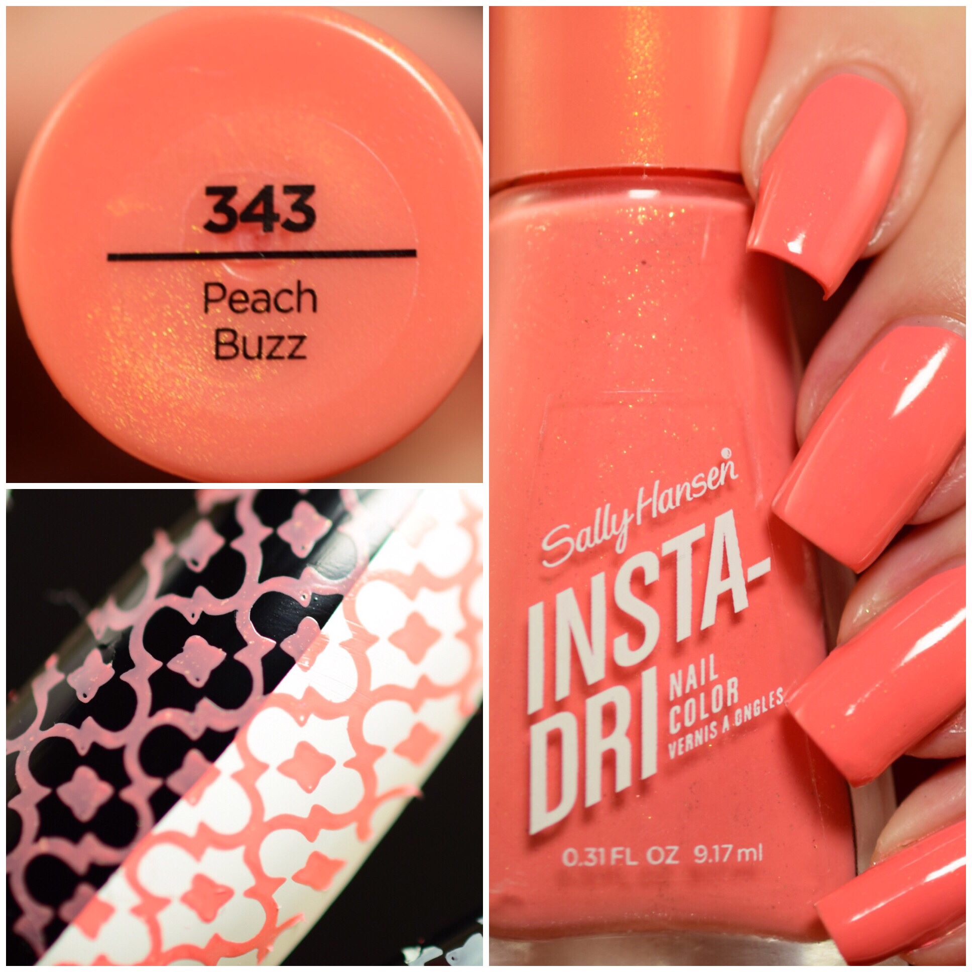 Sally Hansen Instra-Dri Peach Buzz 343