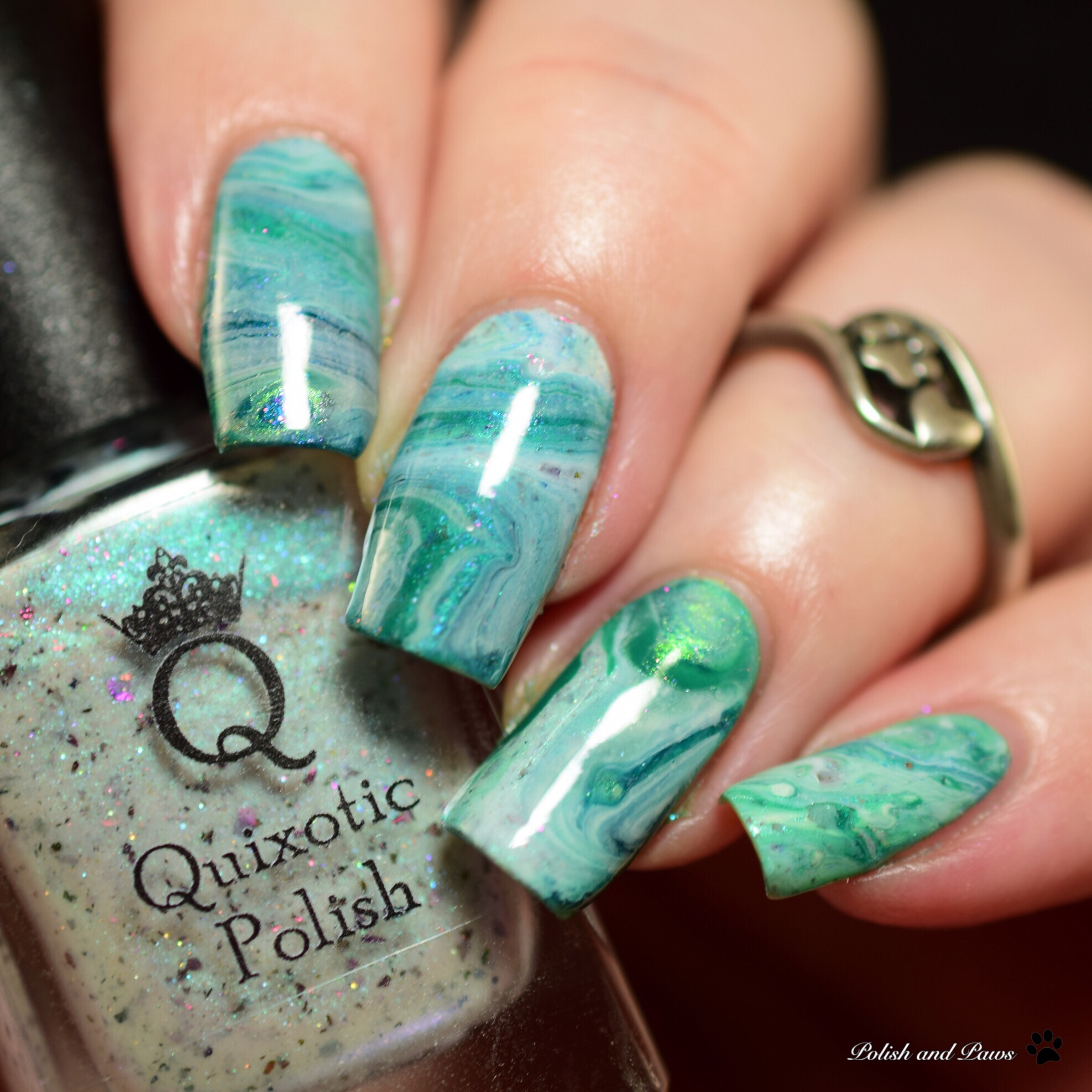Nail Art: Drip Marble