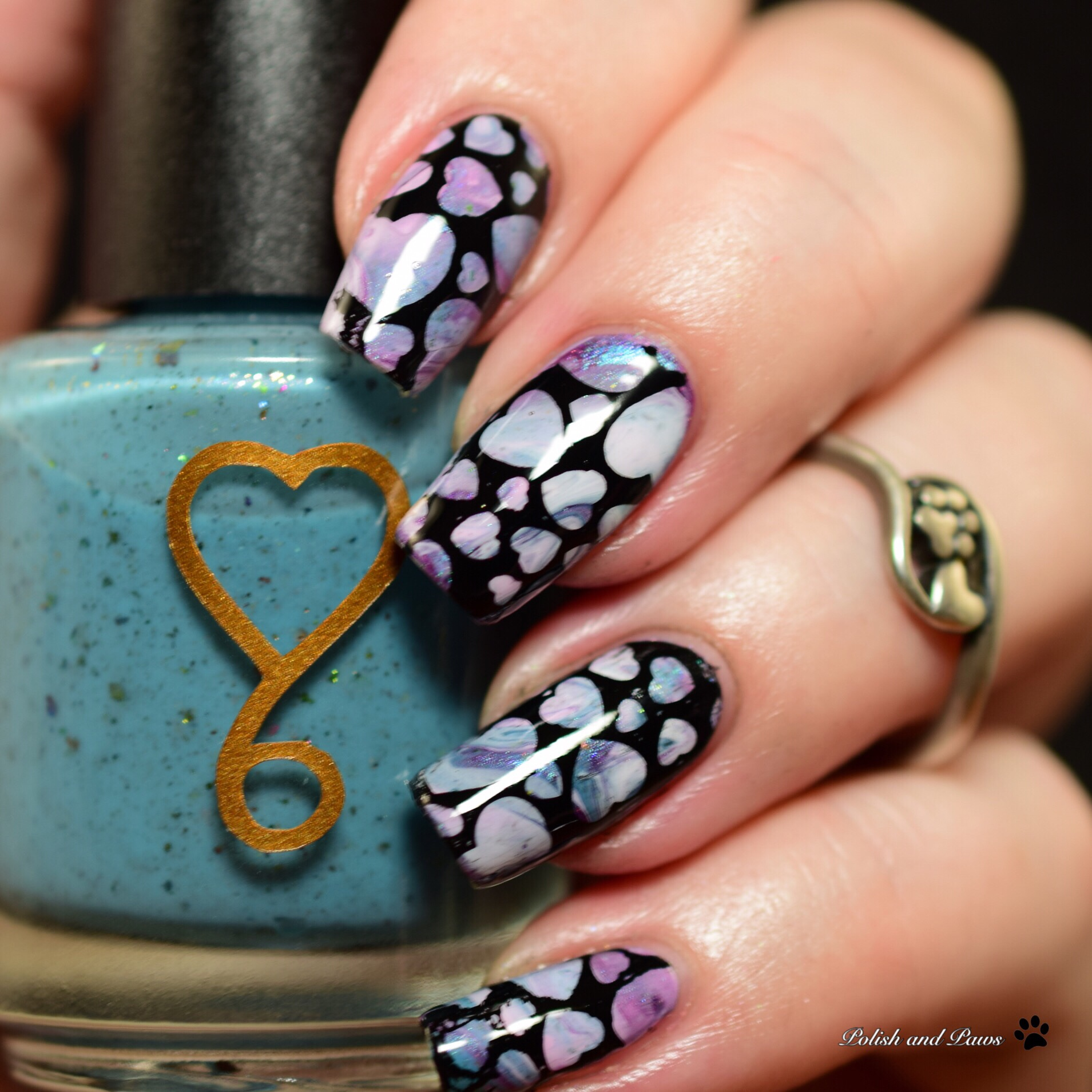Nail Art ~ Non Traditional Valentine's Day Mani