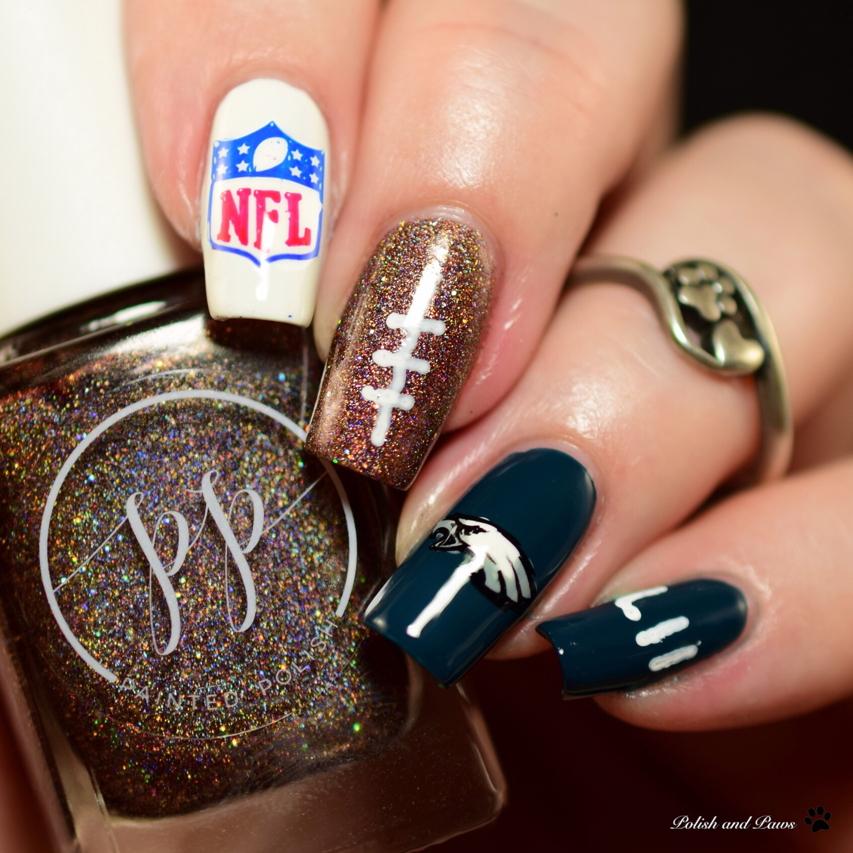 Super Bowl LII Nail Art | Polish and Paws