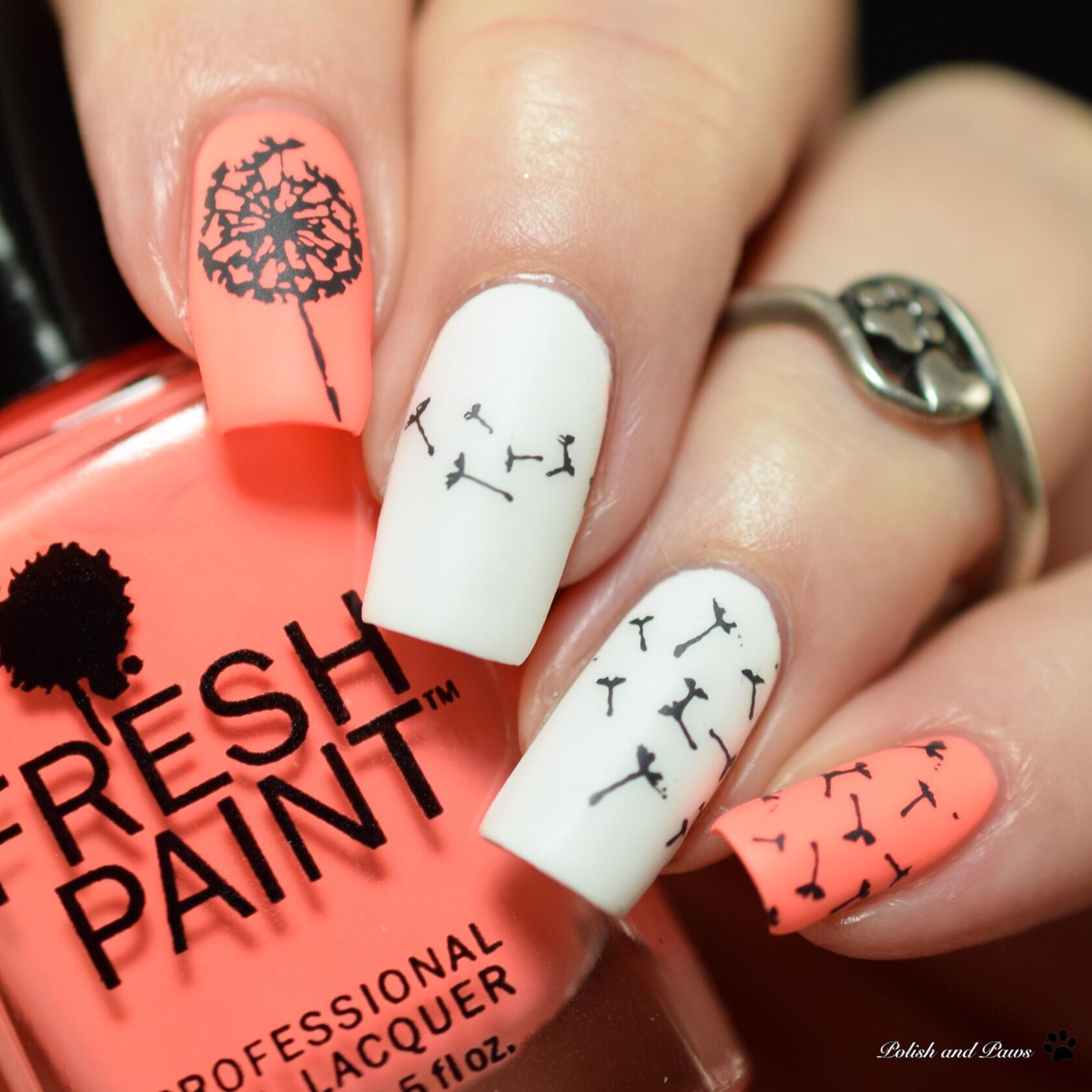 Nail Art ~ Dandelions | Polish and Paws