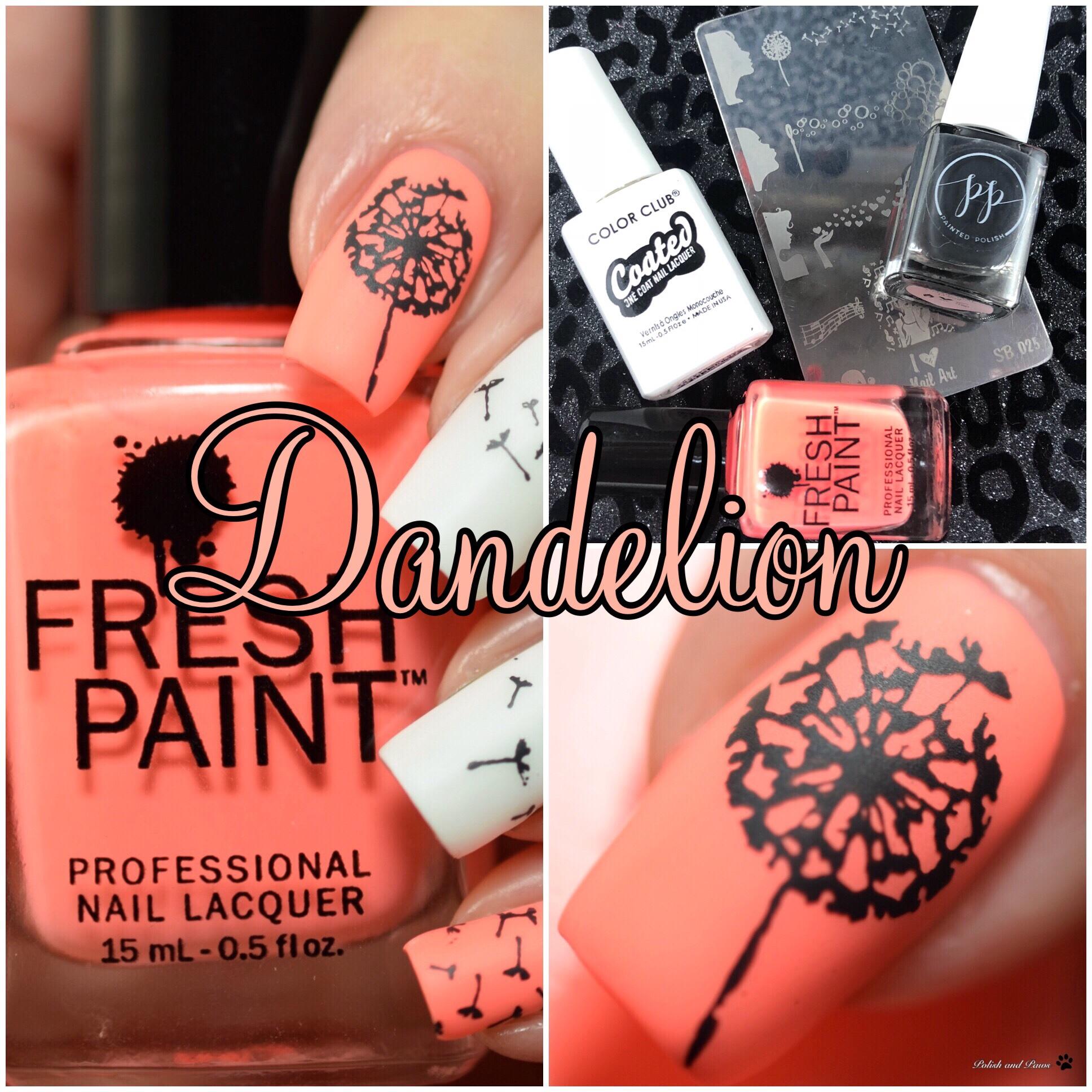 Nail Art ~ Dandelions