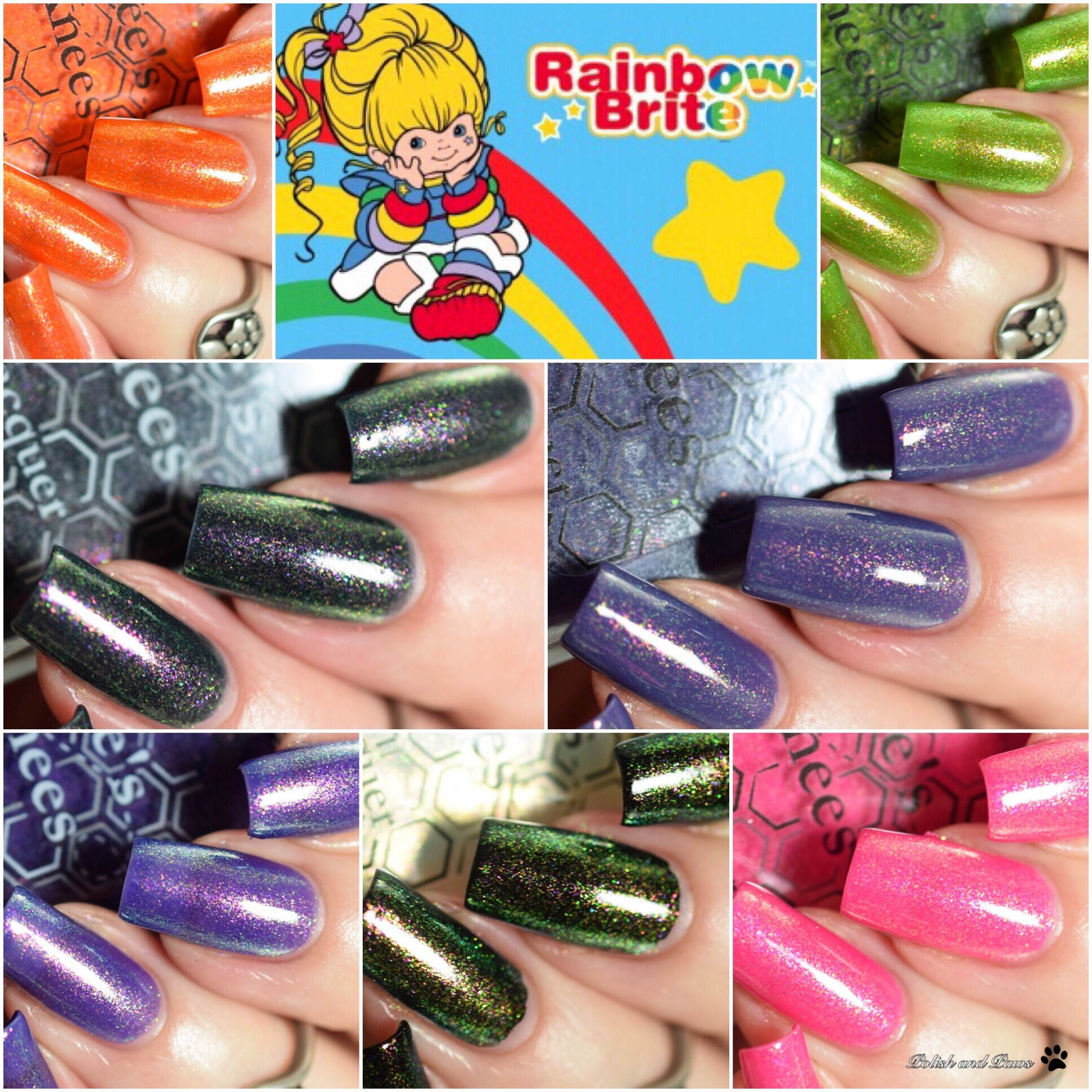 Bee's Knees Lacquer Rainbow Brite Collection