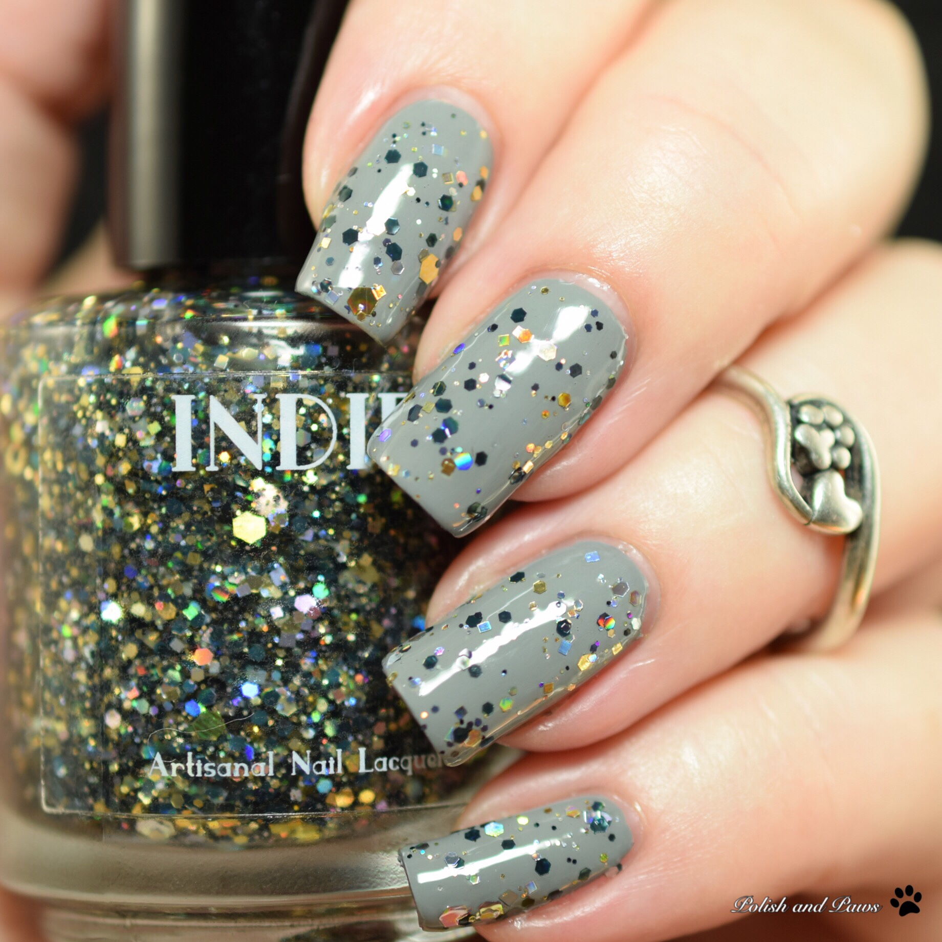 Indie Lacquer Diamonds, Gold and a LBD