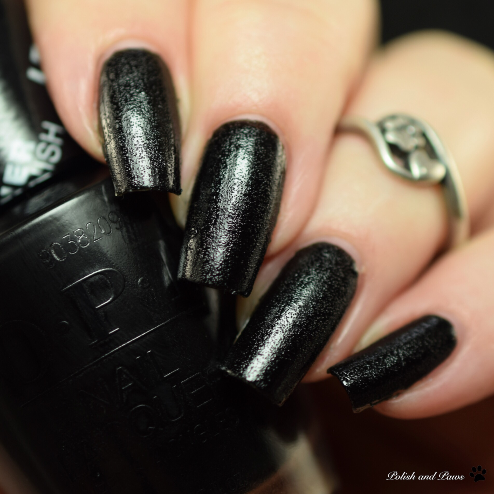OPI Leather Finish Grease is the Word