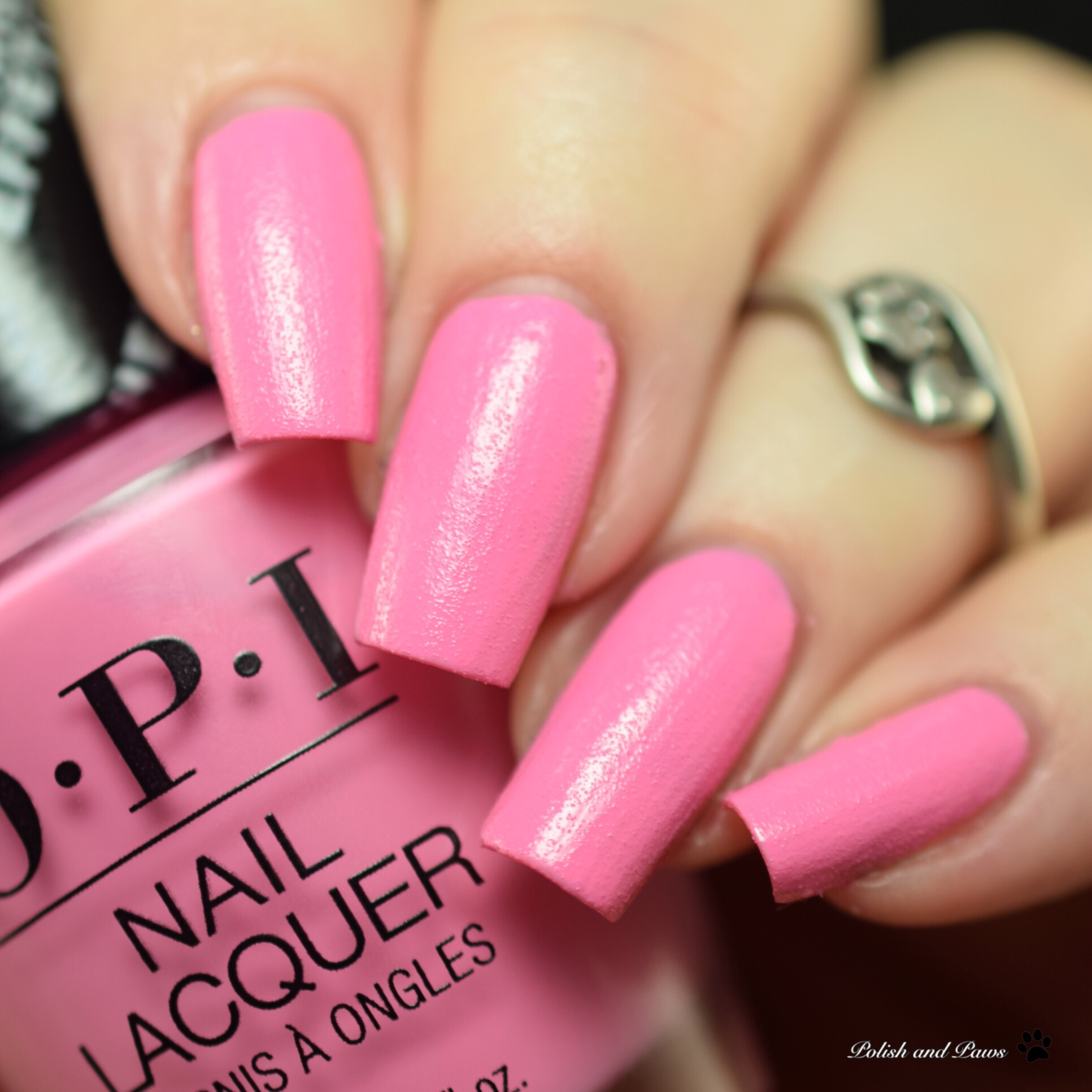 OPI Leather Finish Electrifyin' Pink