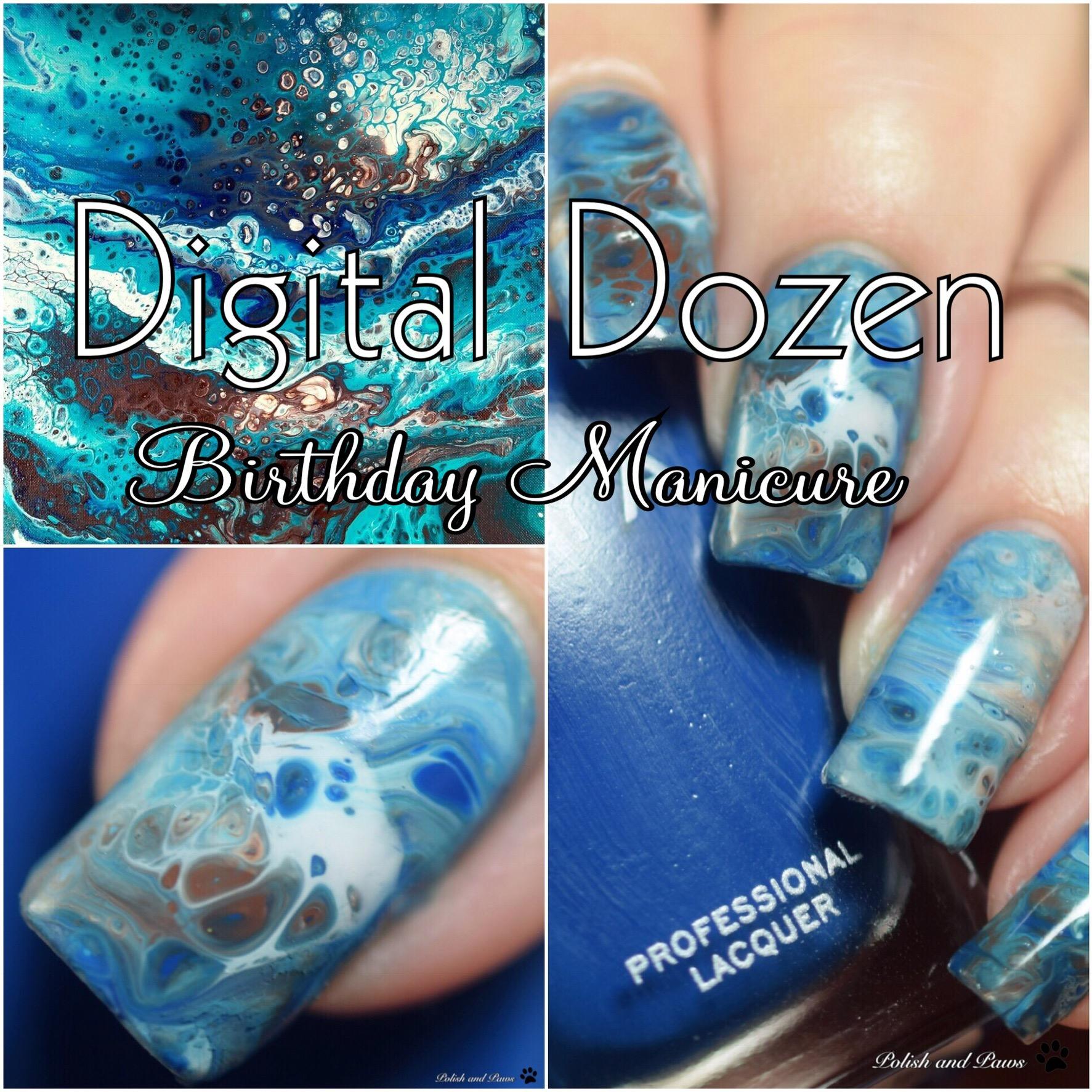 Fluid Nail Art ~ Polish and Paws