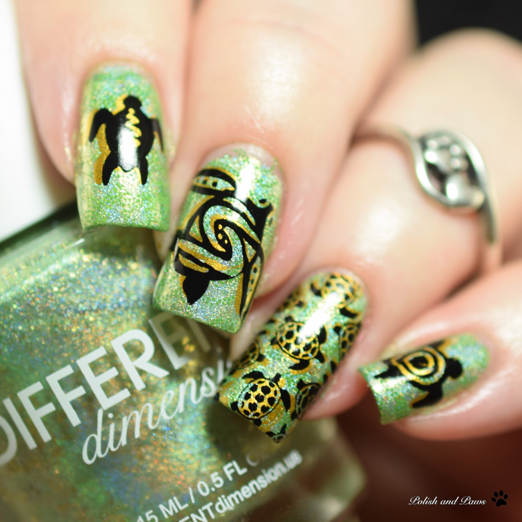 World Turtle Day Nail Art | Polish and Paws