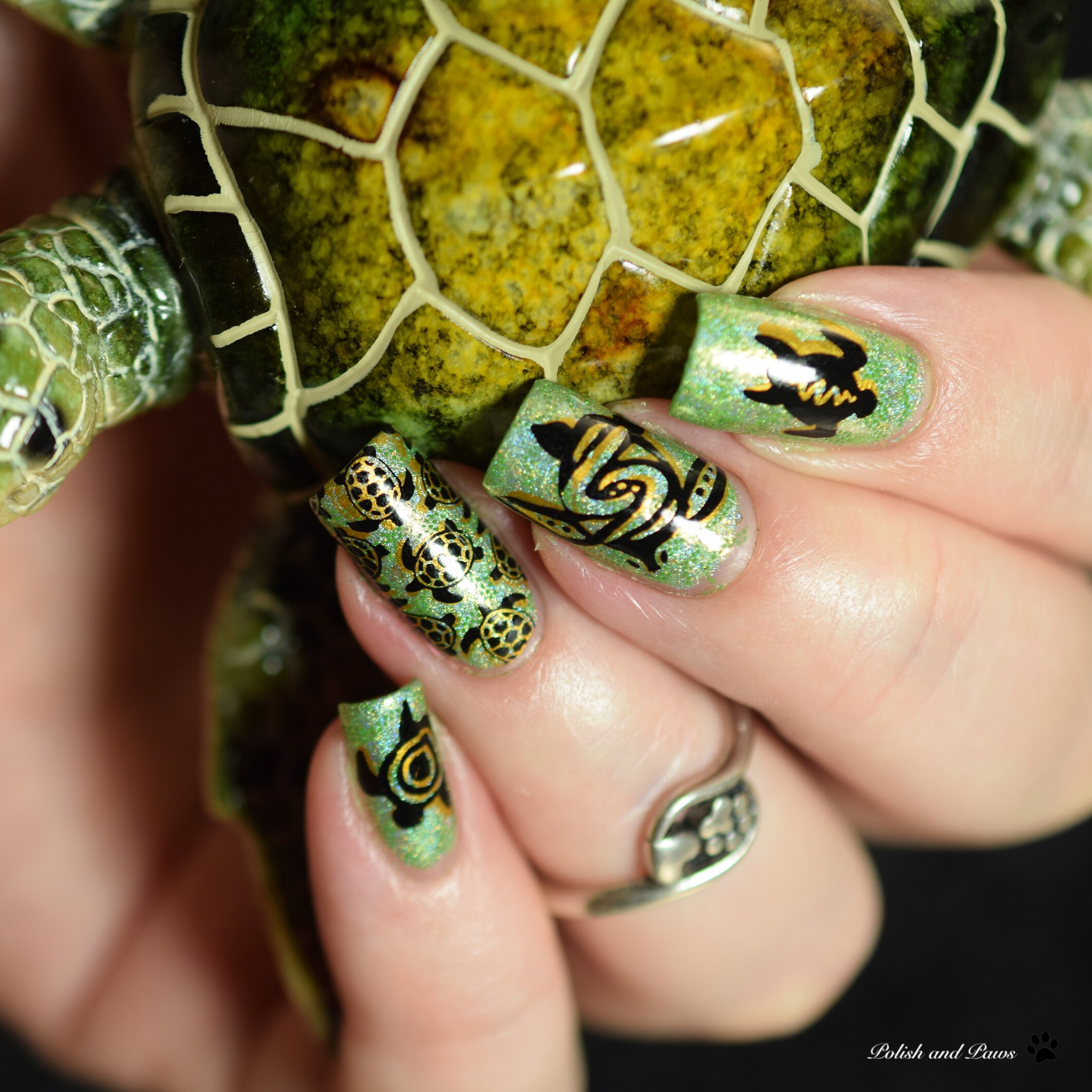 World Turtle Day Nail Art
