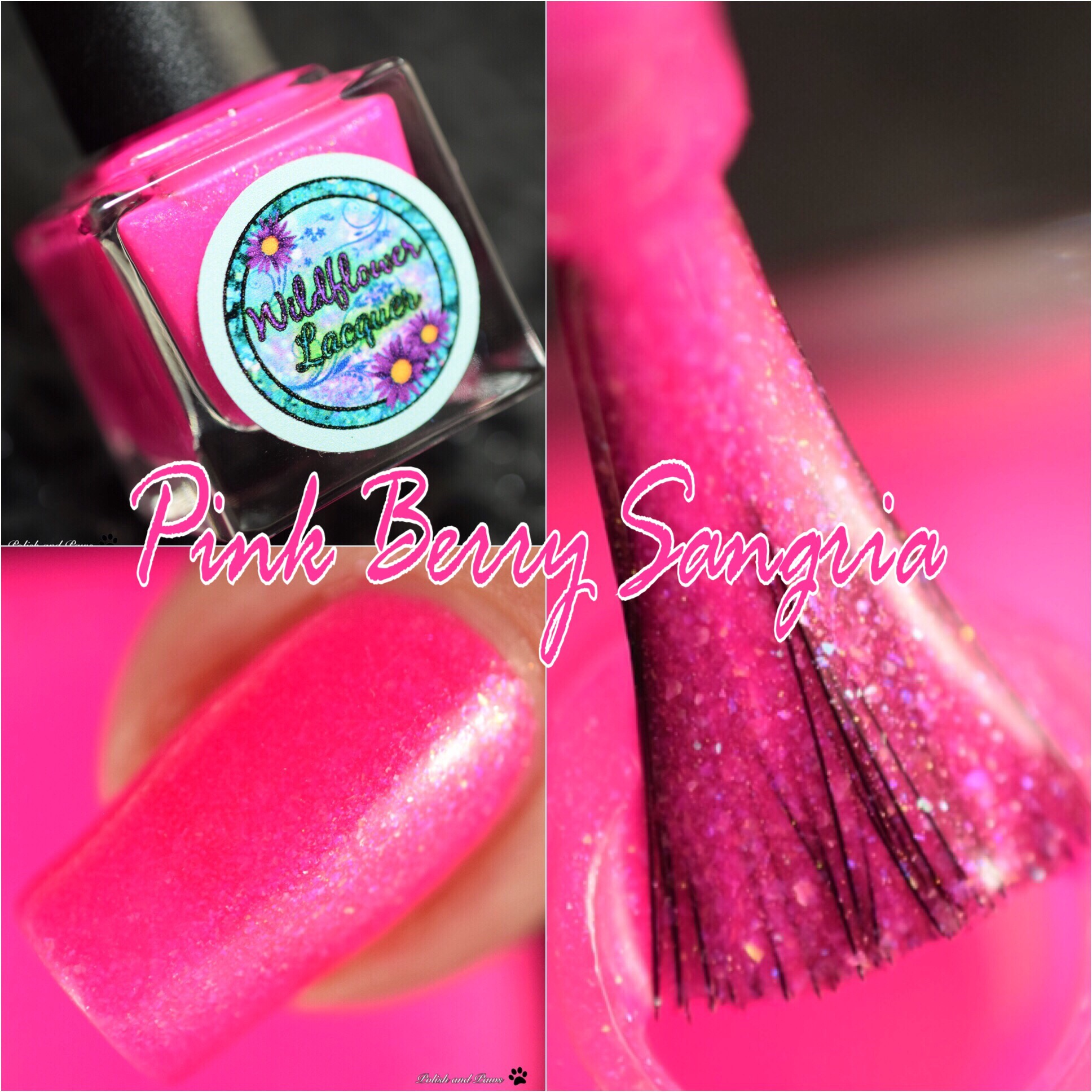 Wildflower Lacquer Pink Berry Sangria