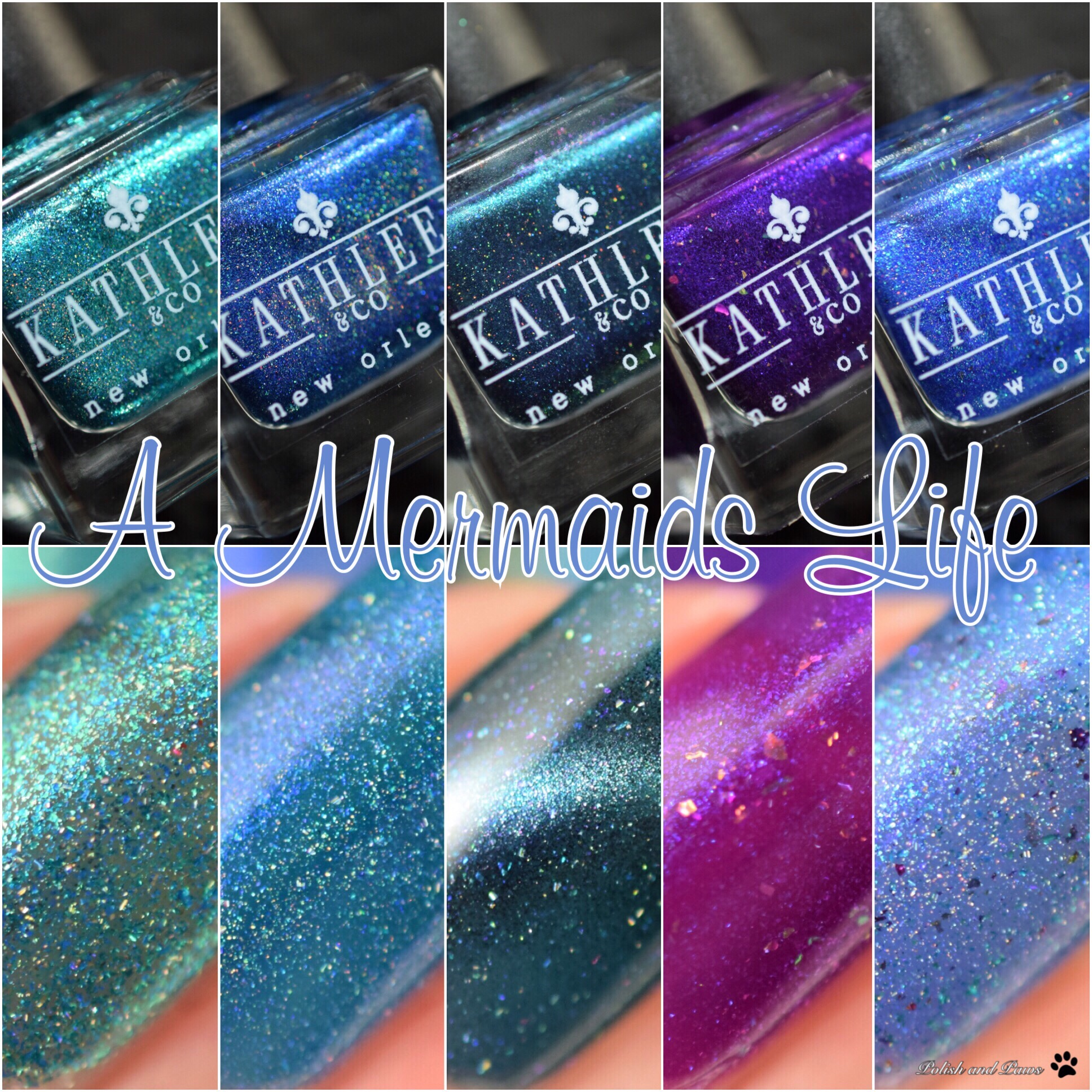 Kathleen & Co Nail Lacquer A Mermaids Life Collection