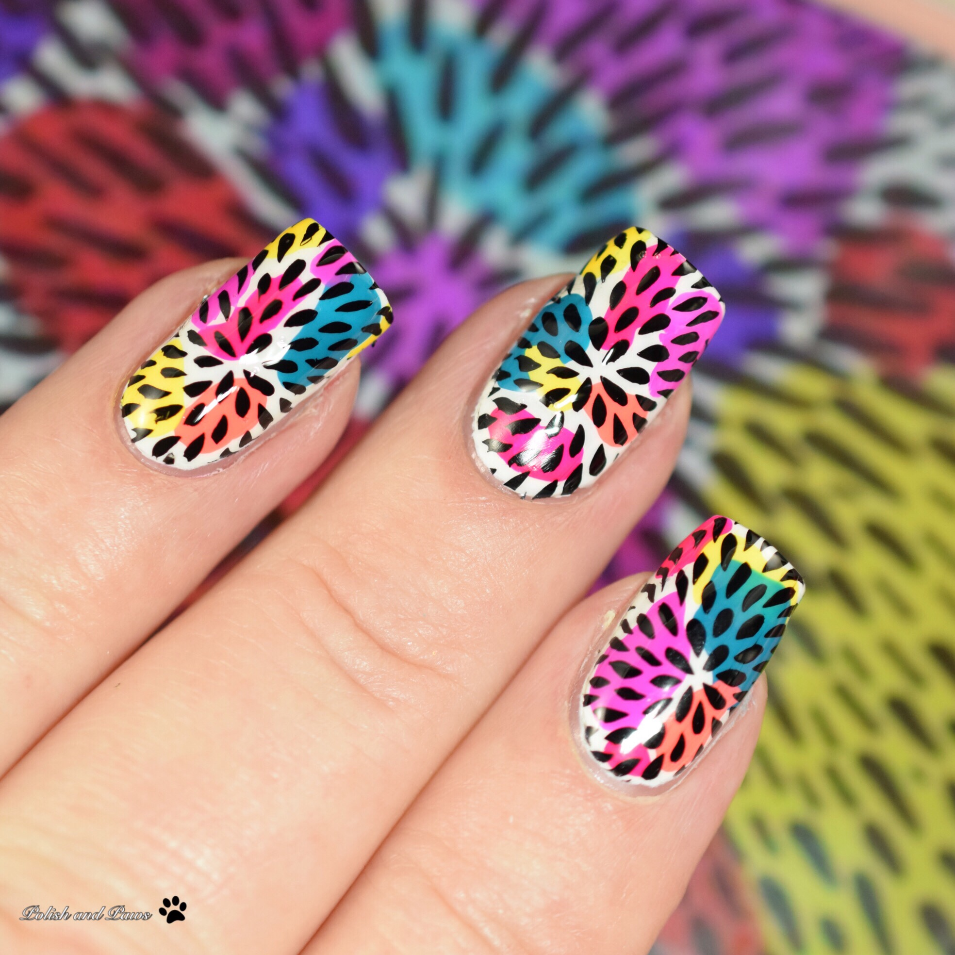 Digital Dozen Neon Birthday Mani