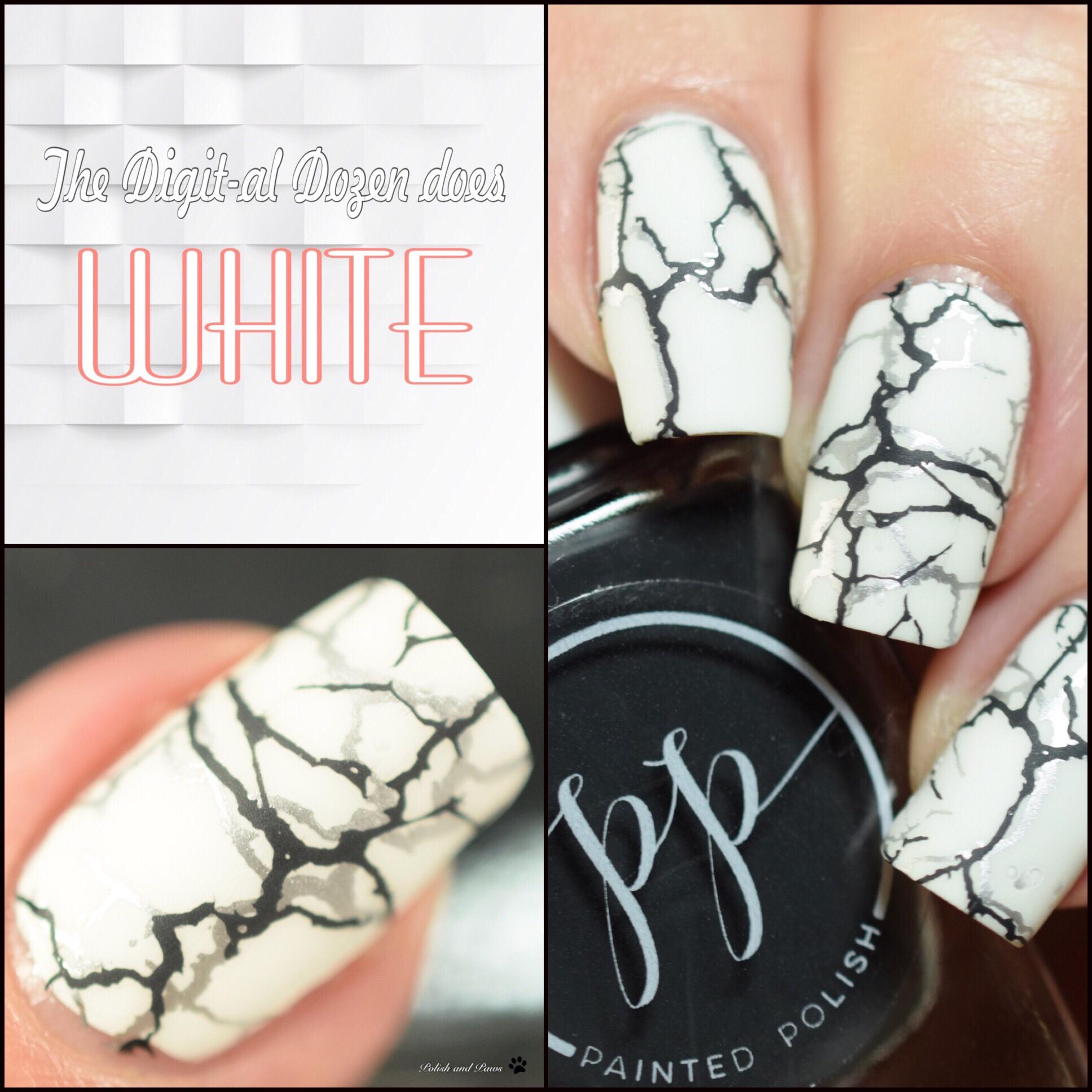 The Digit-al Dozen does White: Marble Nails
