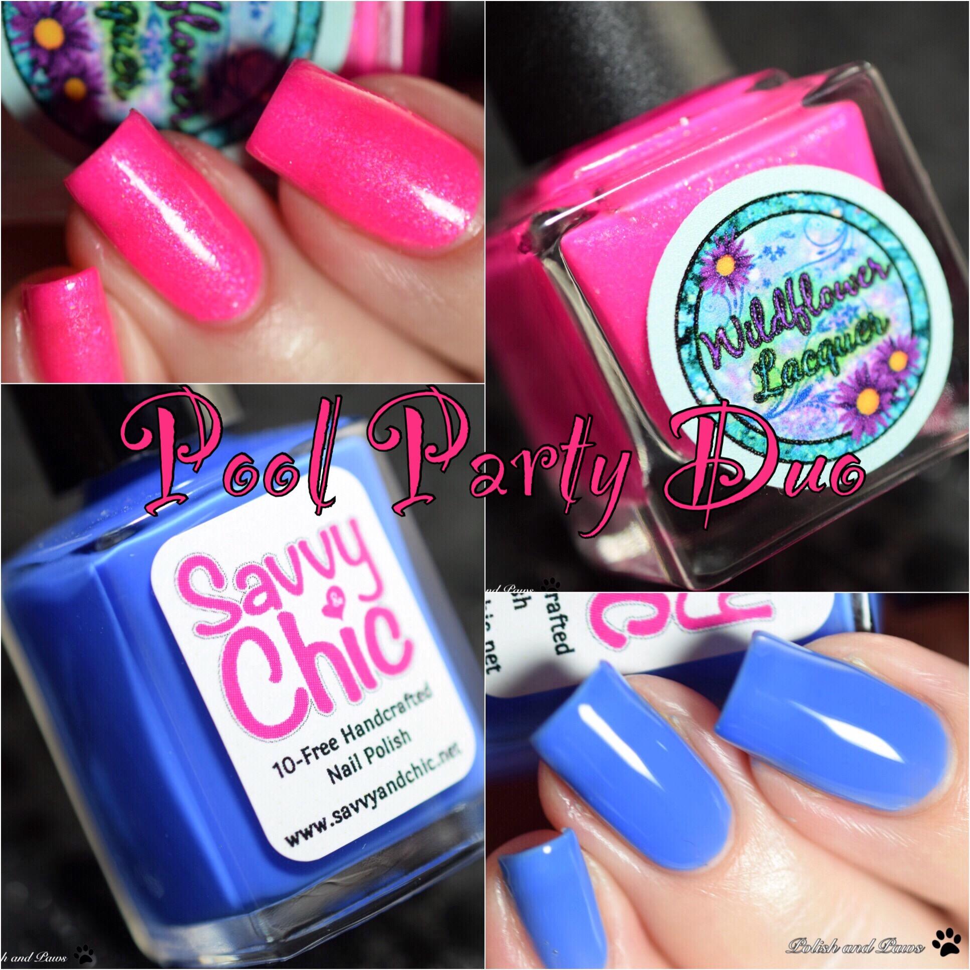 Pool Party Duo with Wildflower Lacquer Savvy & Chic