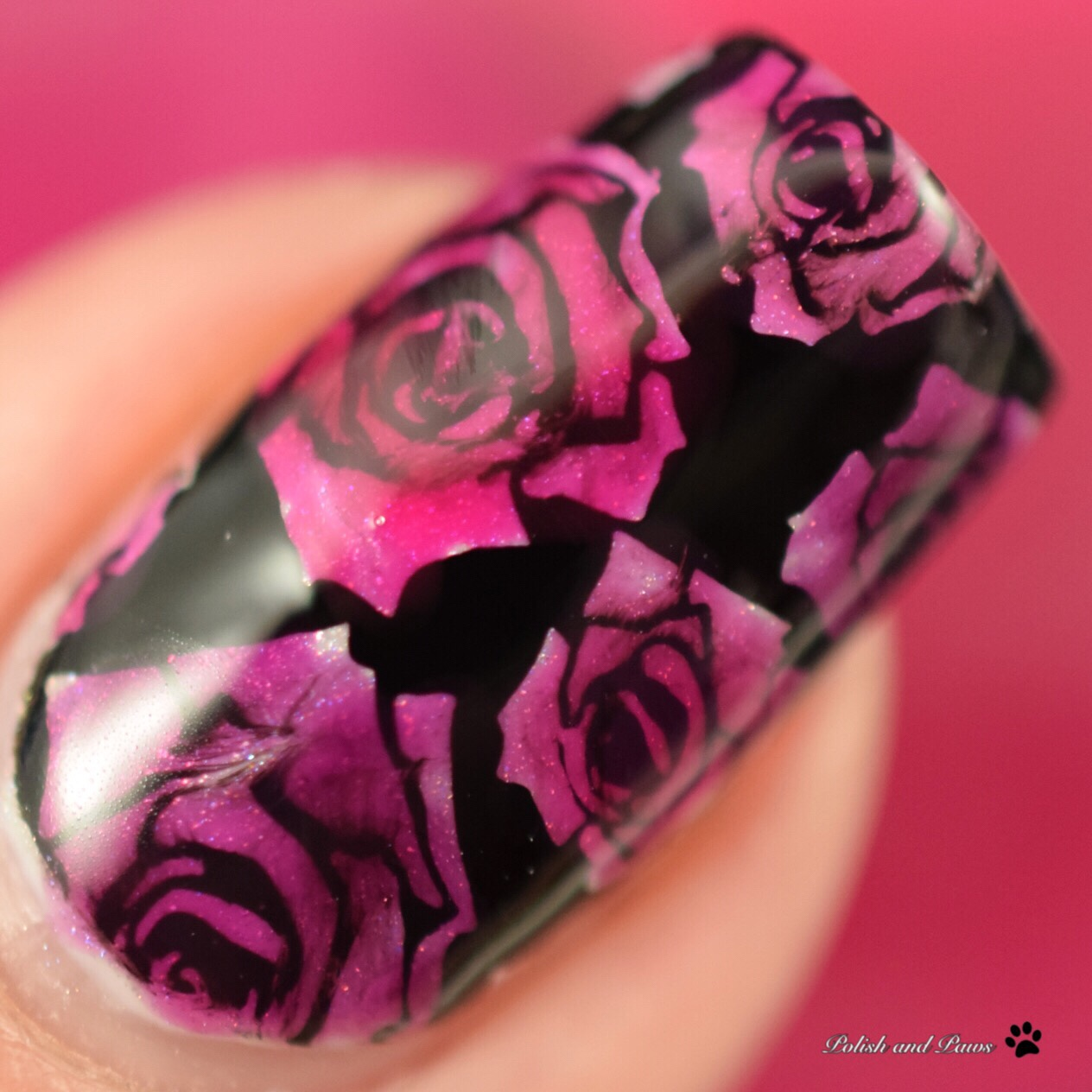 Leadlighting Roses Nail Art ~ Zoya Jelly Brites Collection