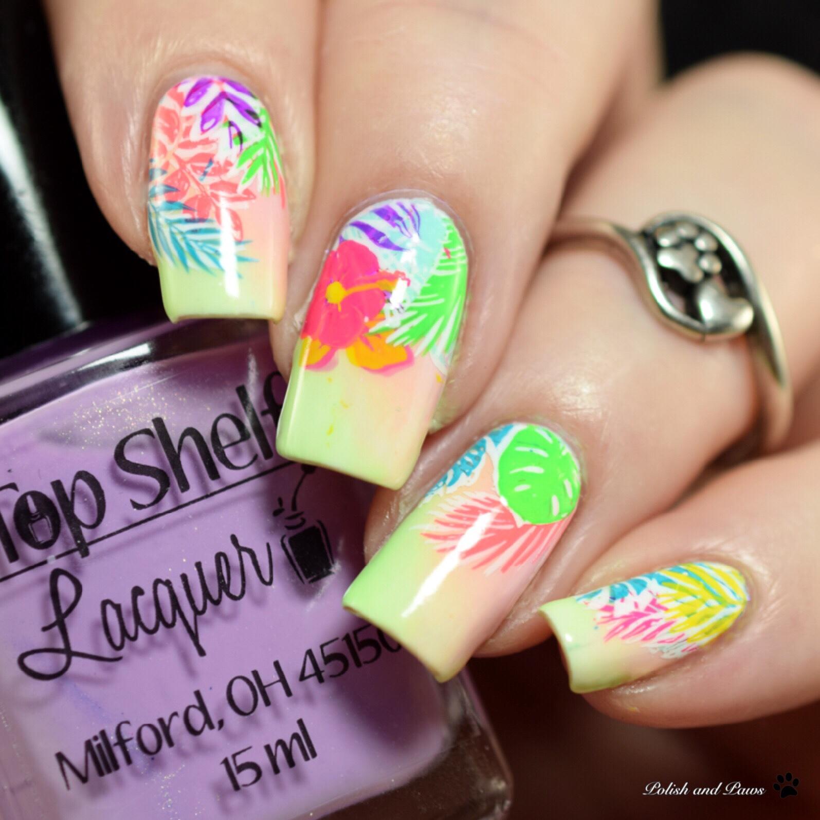 Polish and Paws Tropical Jungle Nails