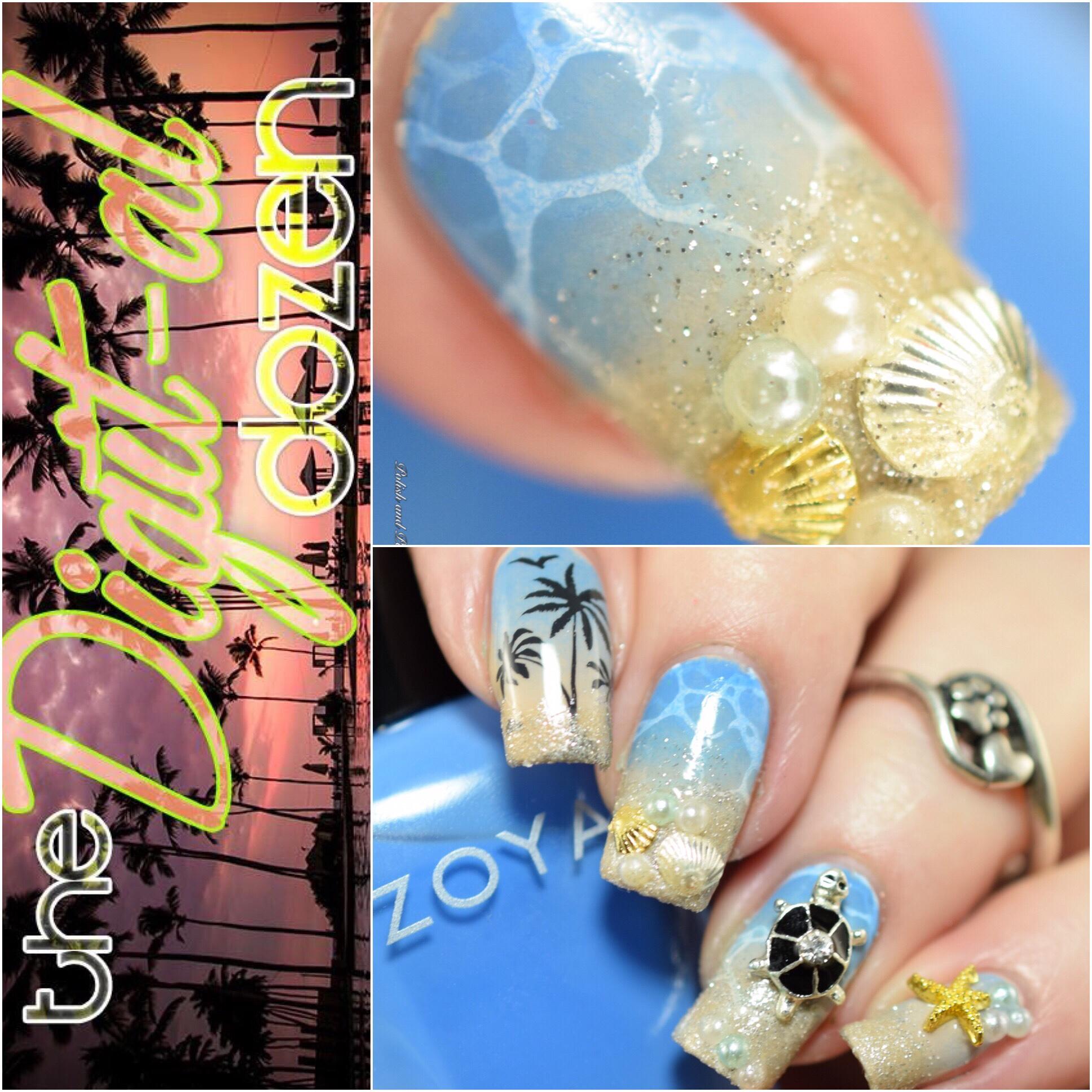 Polish and Paws Tropical Beach Nails