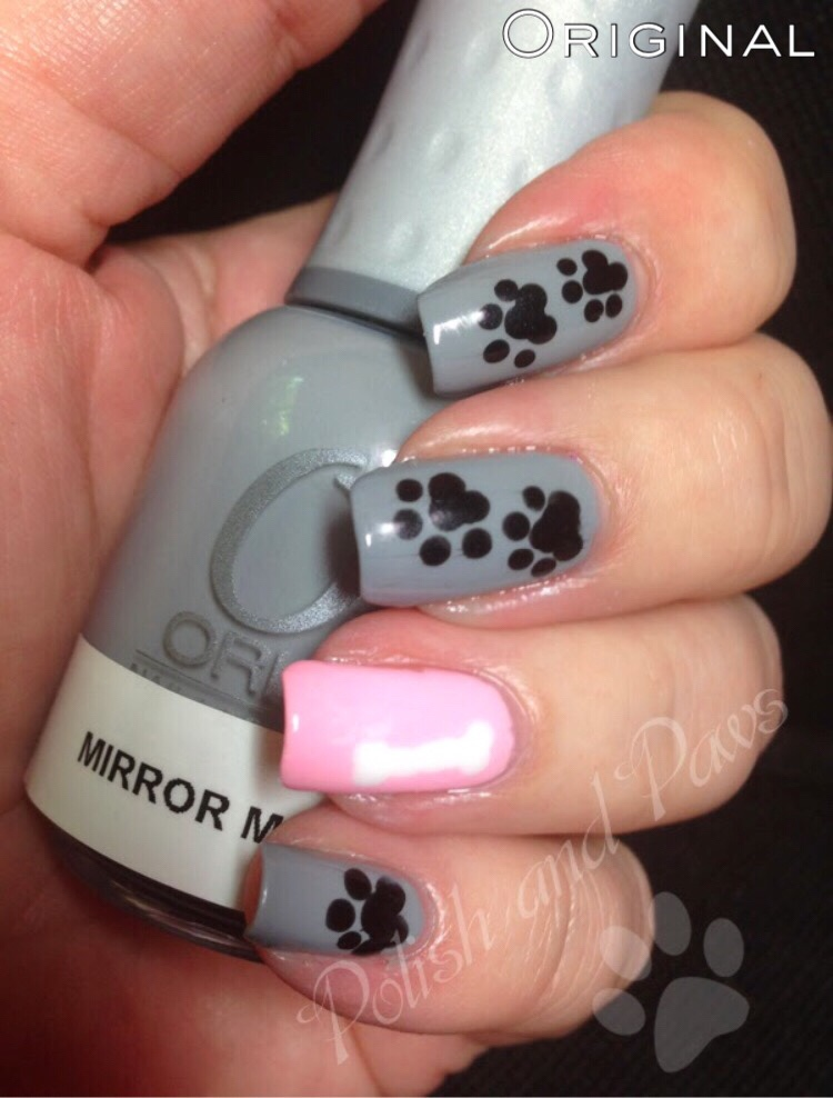 The Digital Dozen does Mani Recreations: Paw Prints