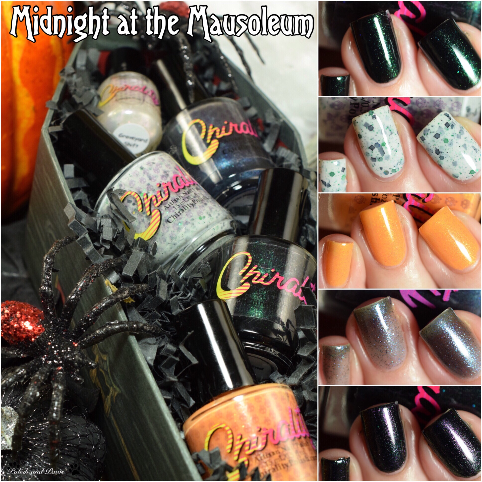 Chirality Polish Midnight at the Mausoleum Collection