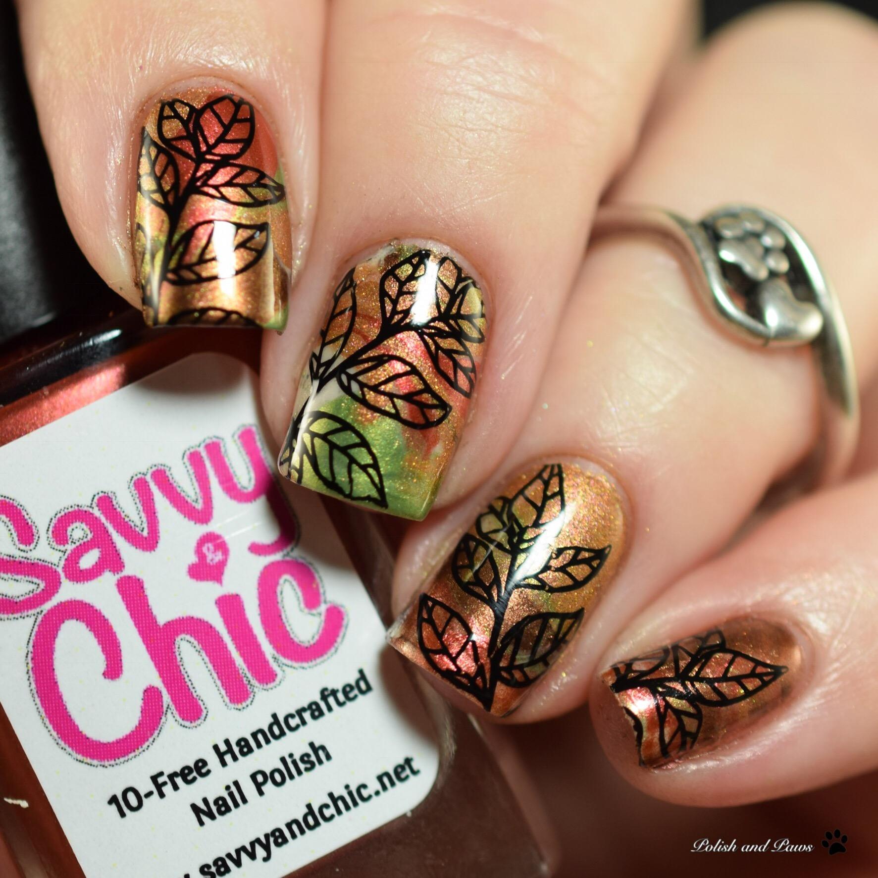 Savvy & Chic Lacquer Enchanted Autumn Nail Art