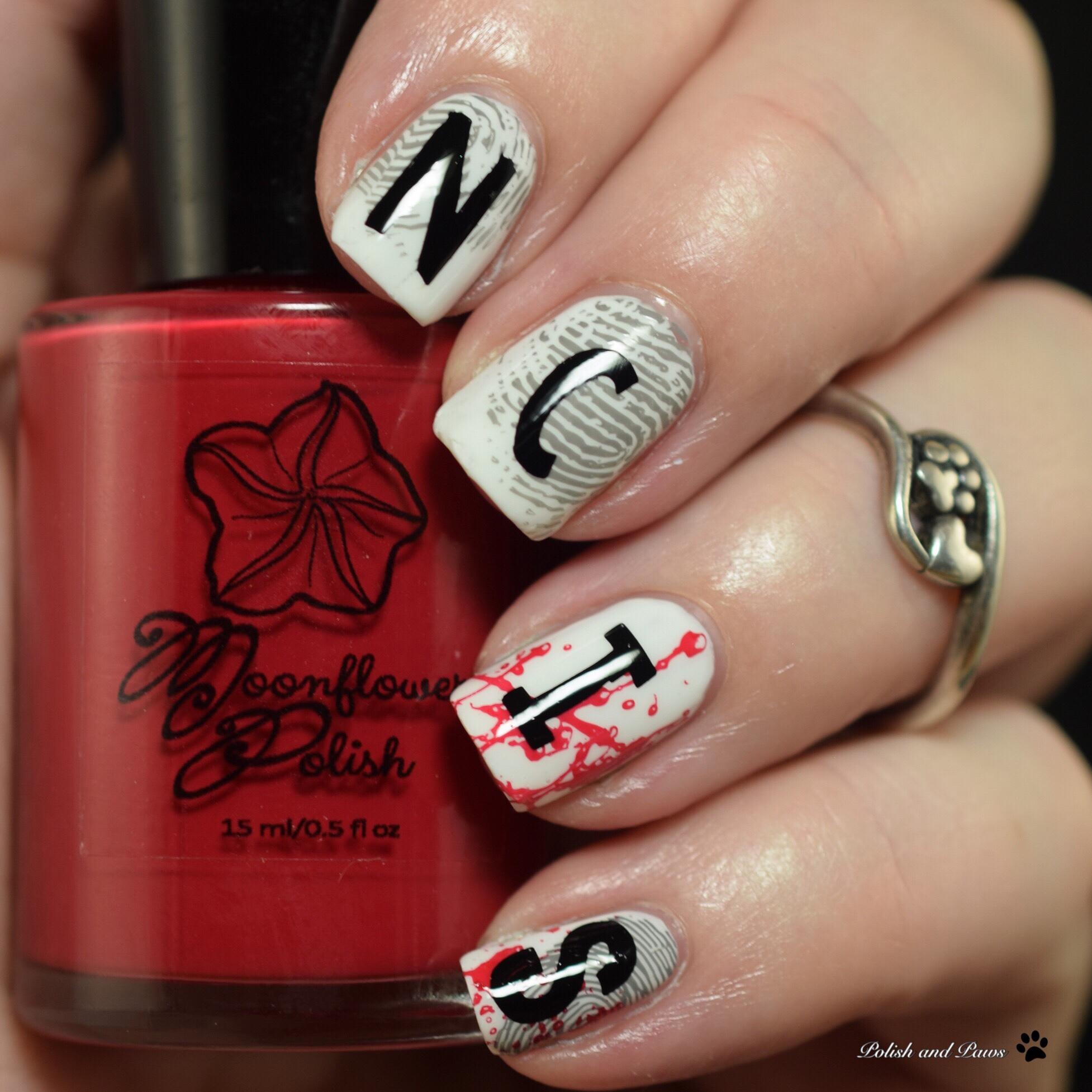 Polish and Paws NCIS inspired nails